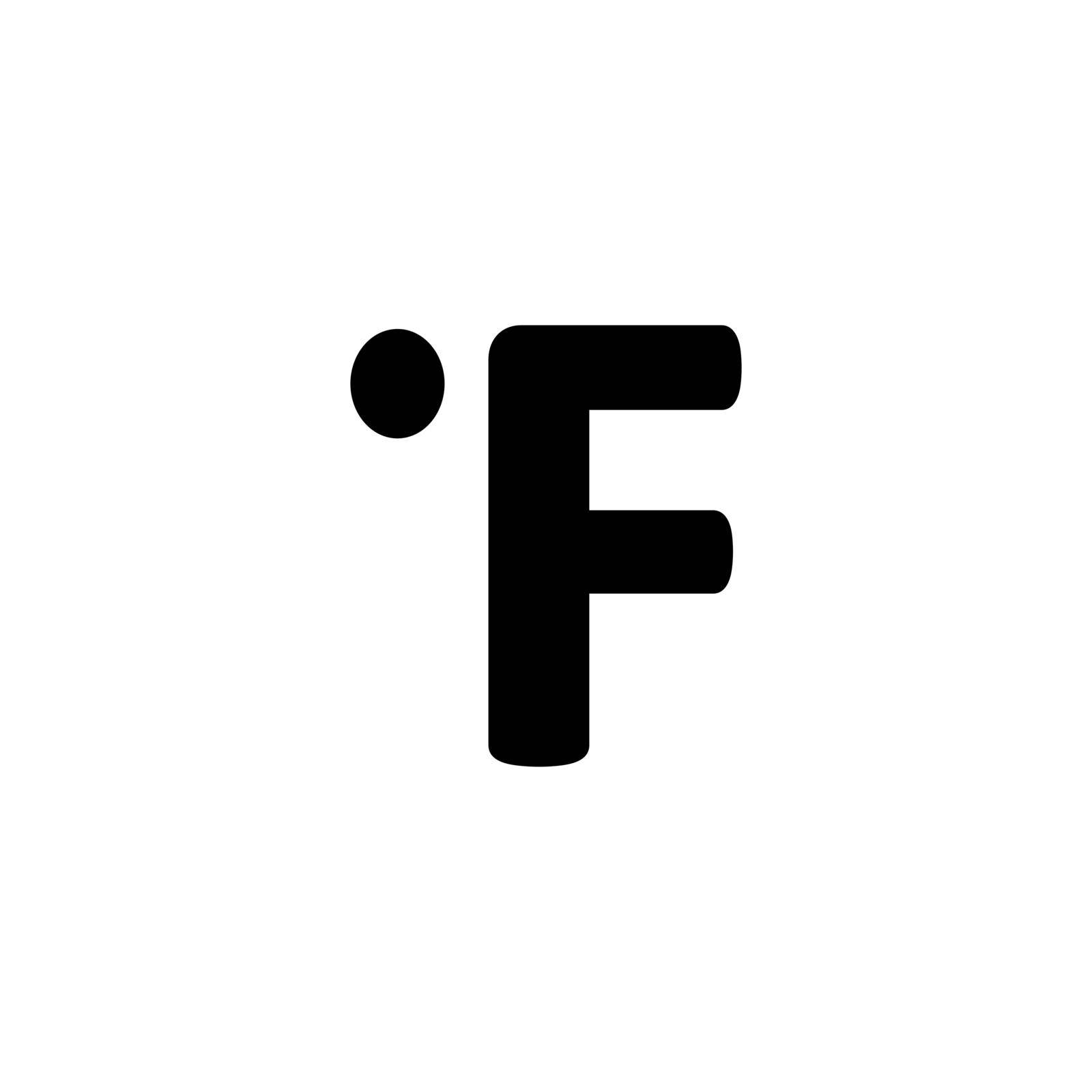 Fahrenheit degrees vector glyph icon. Meteorology sign. Graph symbol for travel, tourism and weather web site and apps design, logo, app, UI
