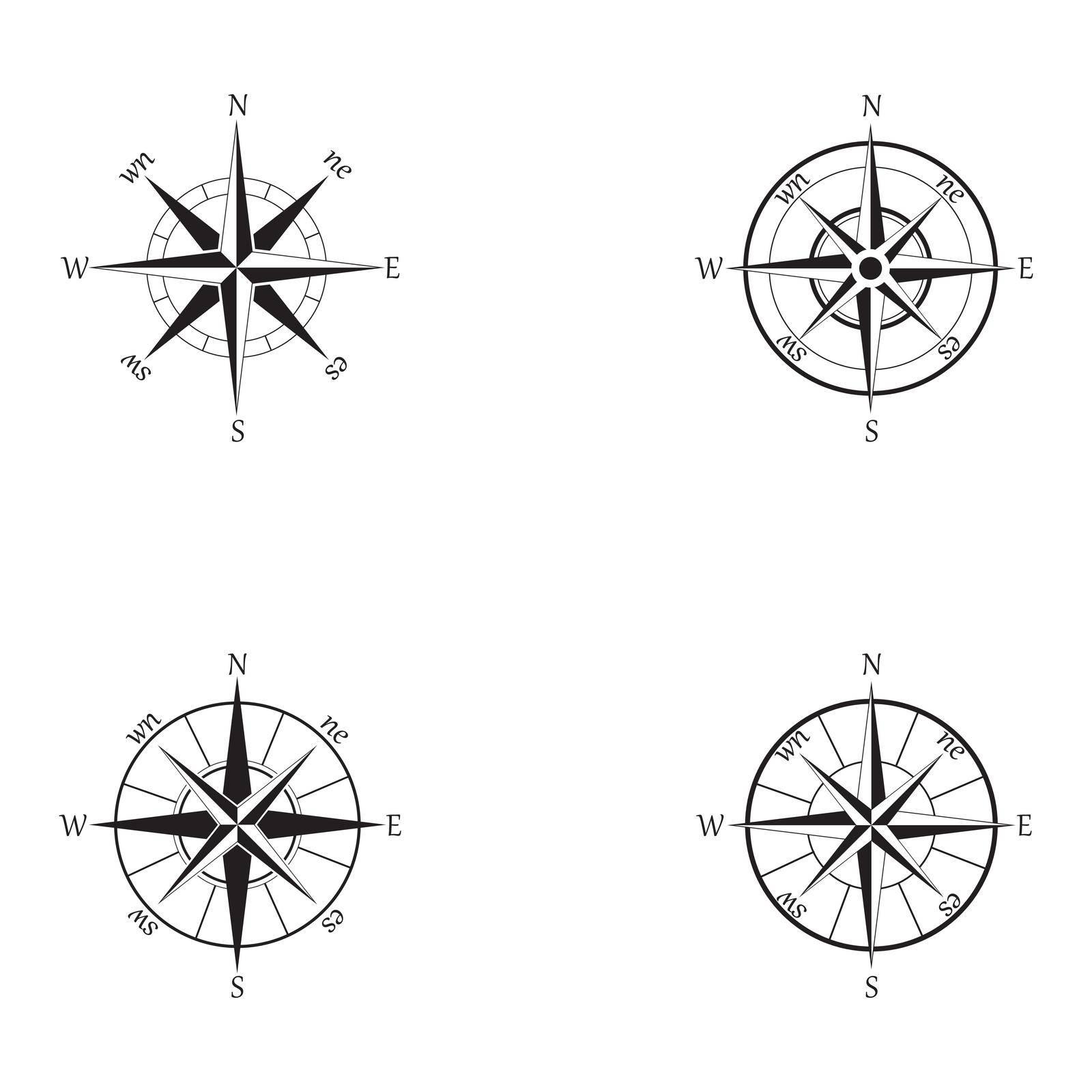 Vector - Compass signs and symbols logo