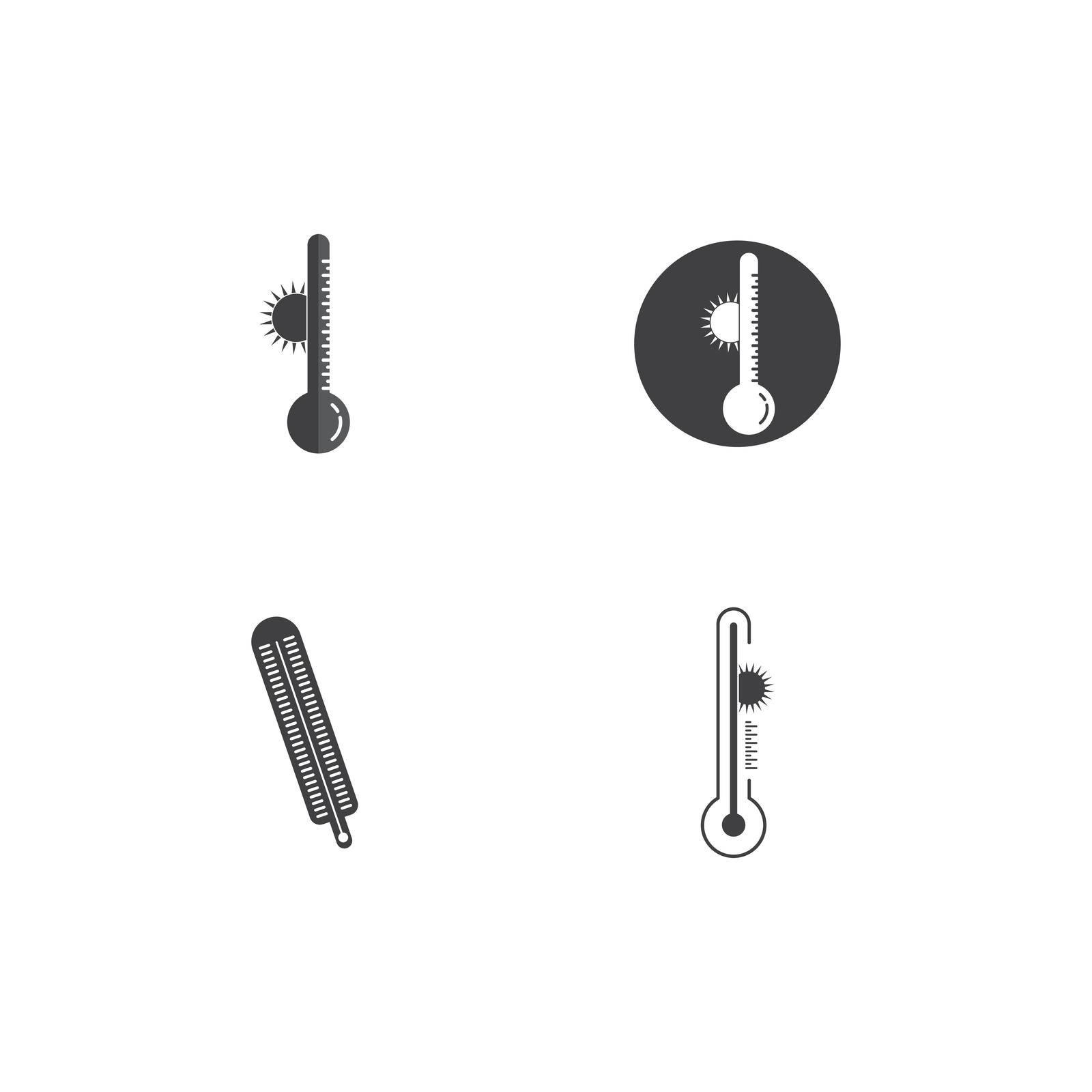 Thermometer Icon Vector Design Template
