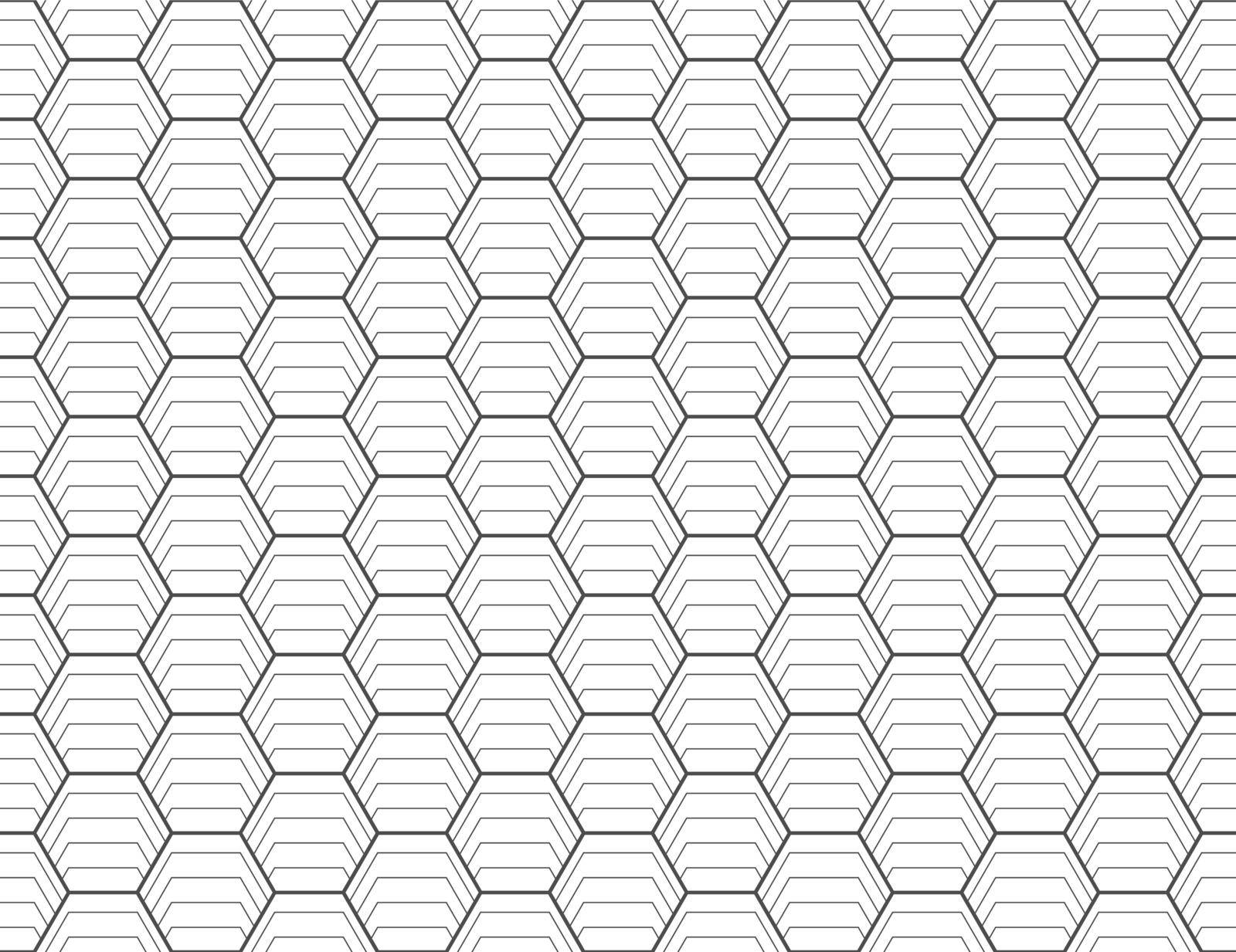 seamless geometric linear pattern creates a hexagon. An ornament for texture, textiles and simple backgrounds. Flat style.