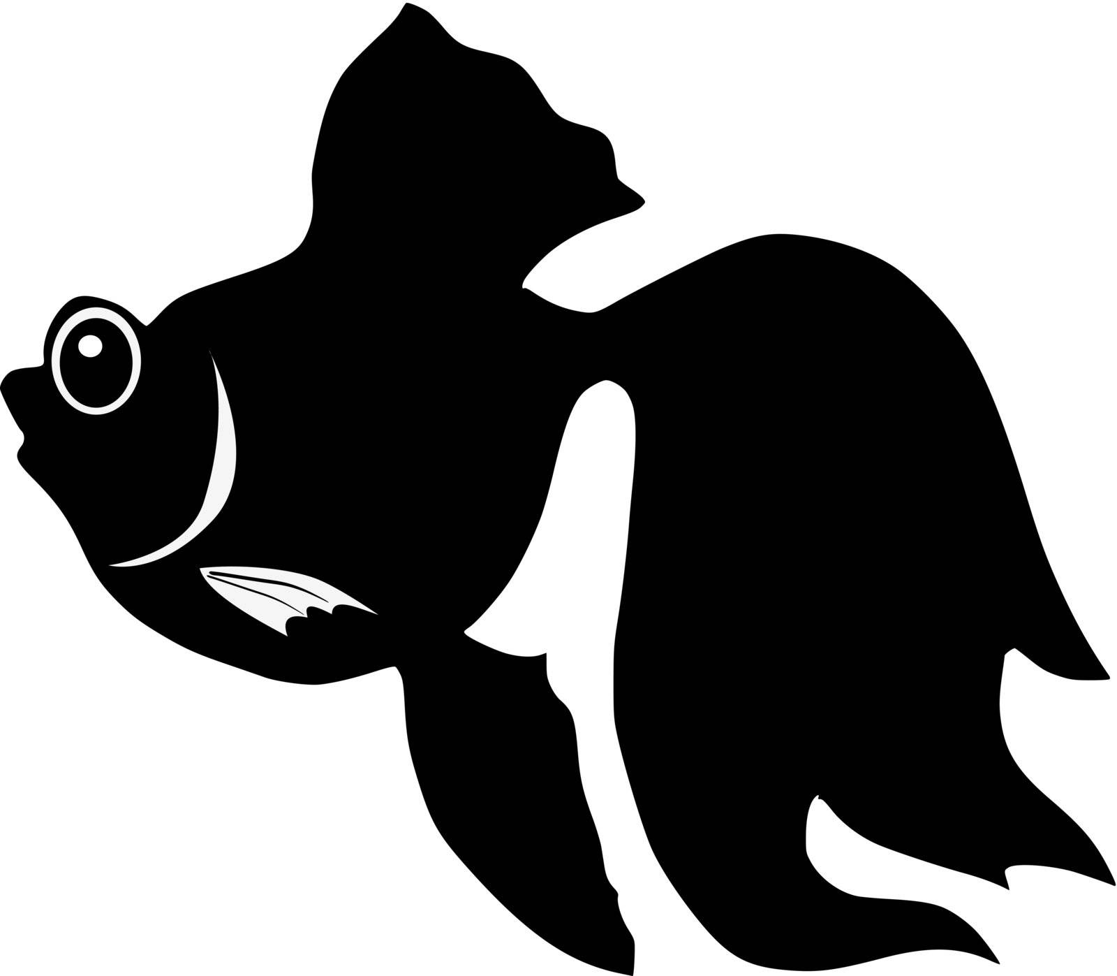 Silhouette of goldfish by Perysty