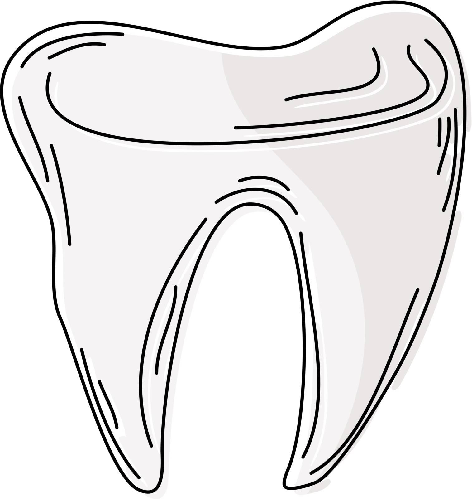 Cartoon tooth. eps10