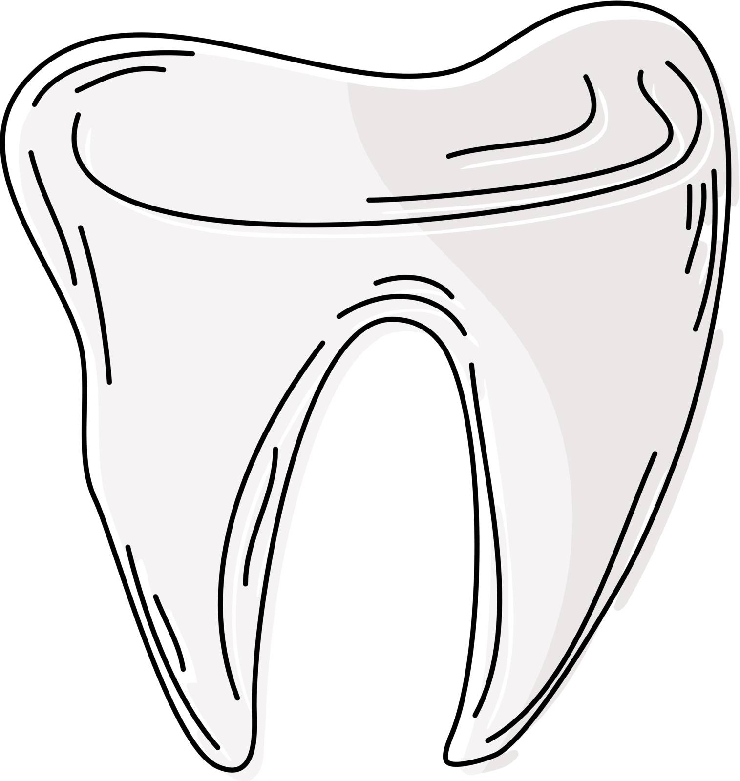 Cartoon tooth. eps10  by Larser