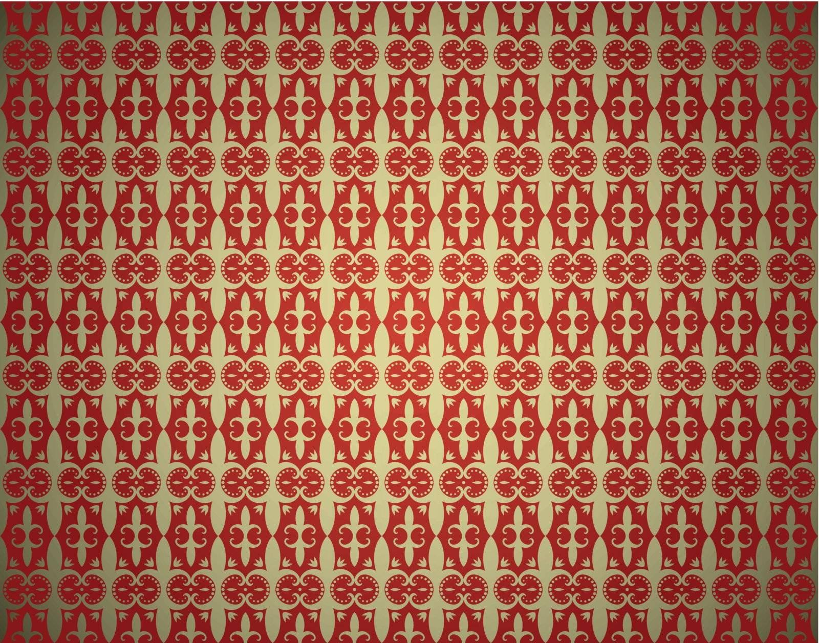 abstract seamless vintage wallpaper vector illustration
