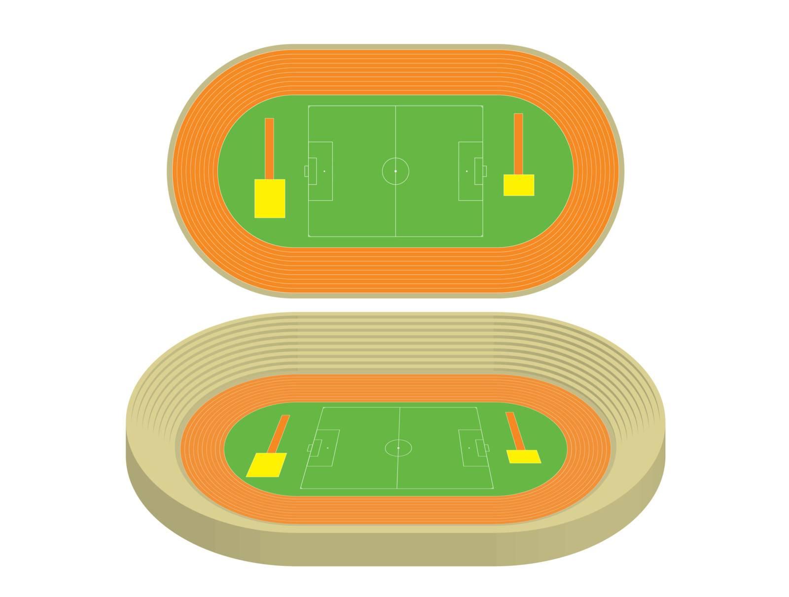 model of stadium vector illustration