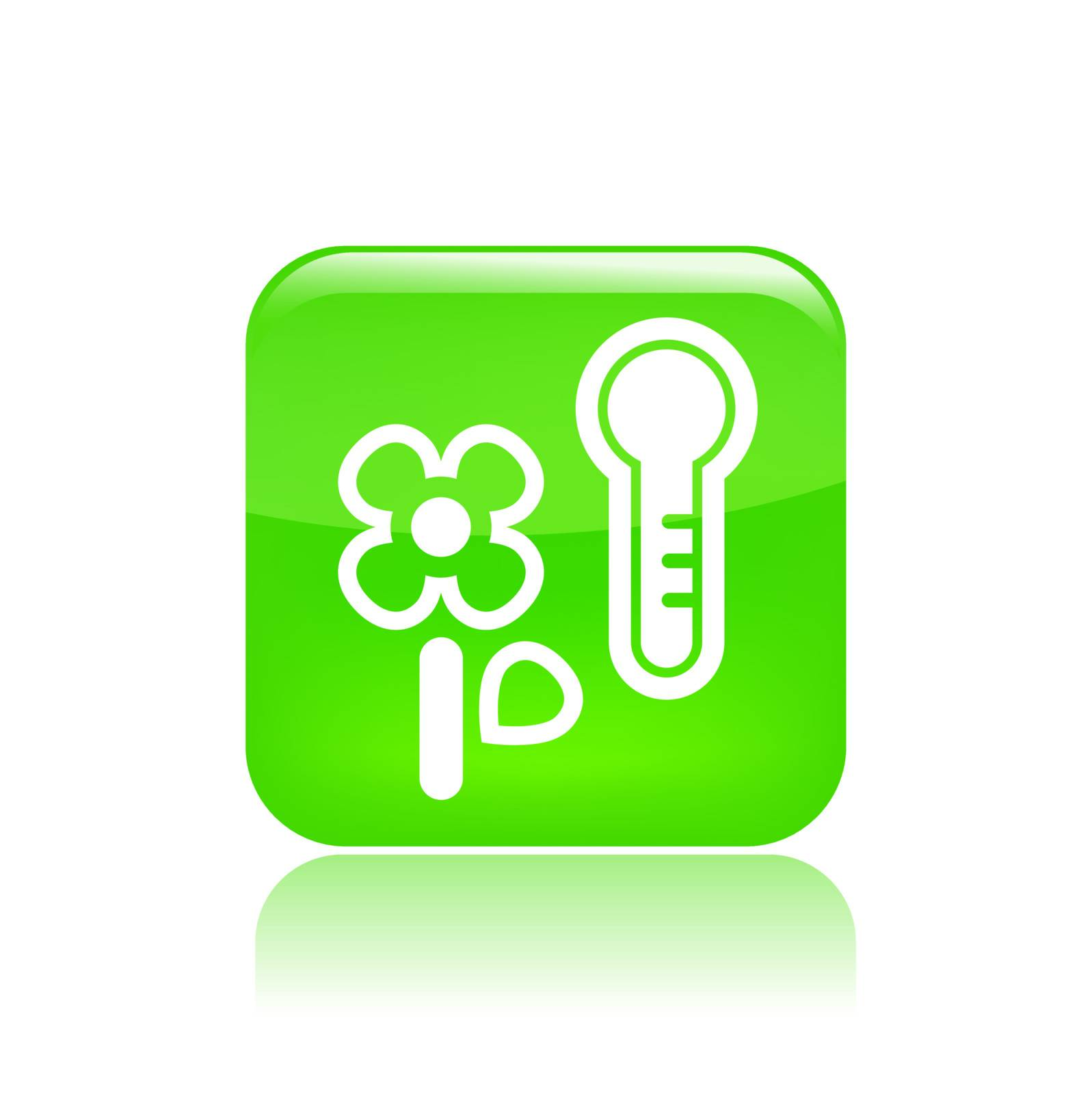 Vector illustration of temperature flower icon  by myVector