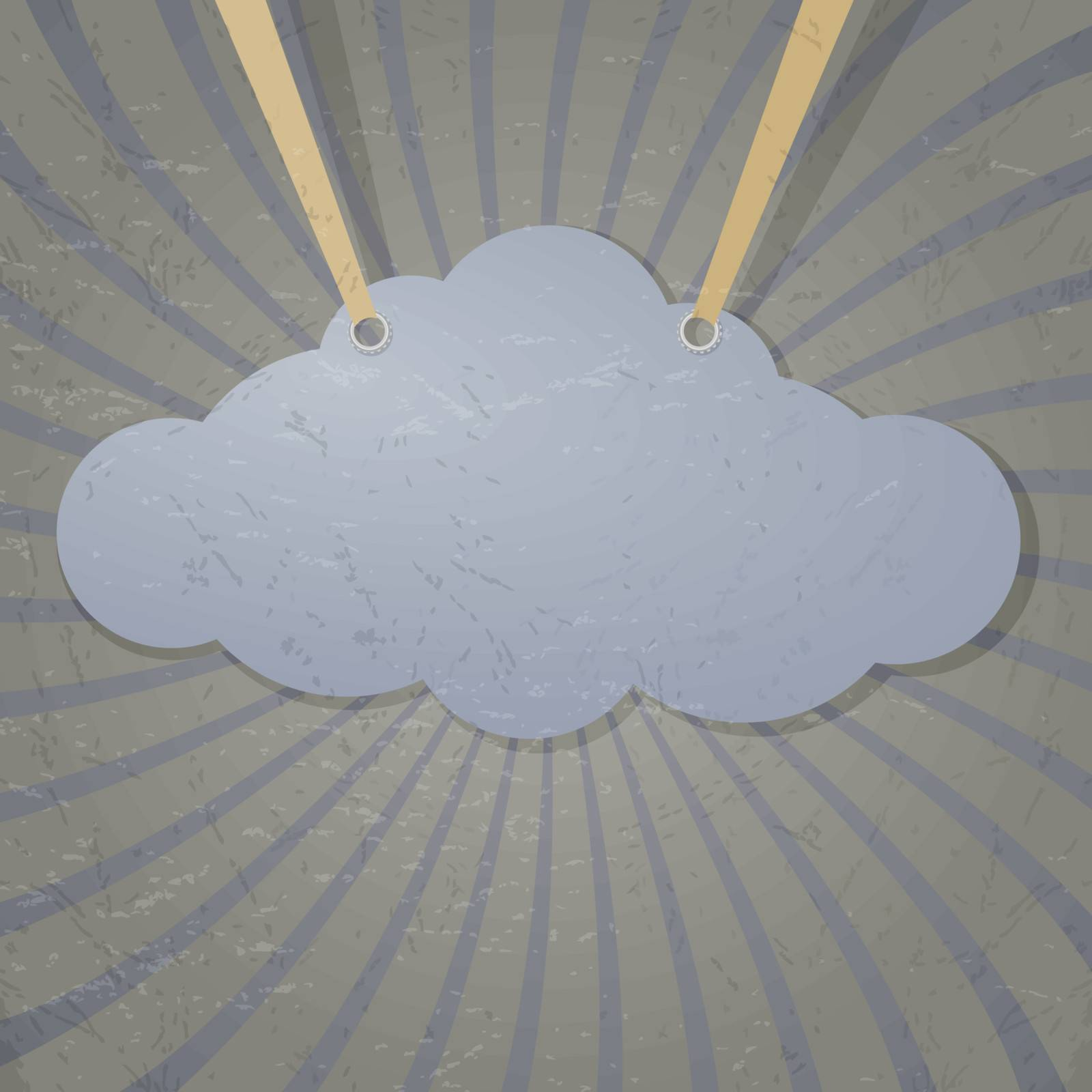 Abstract cloud on the ropes. eps10
