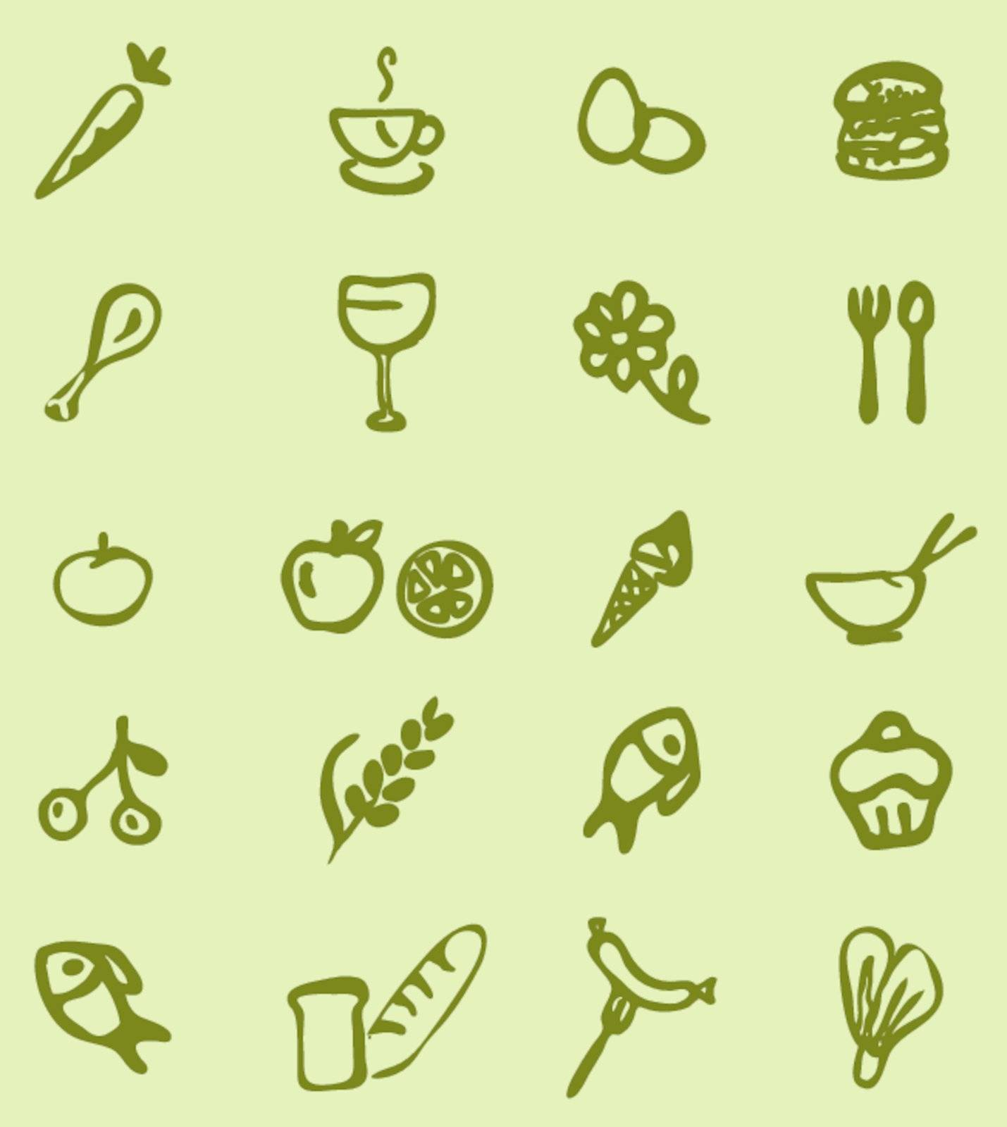 vector illustration of utensils and food daily wallpaper