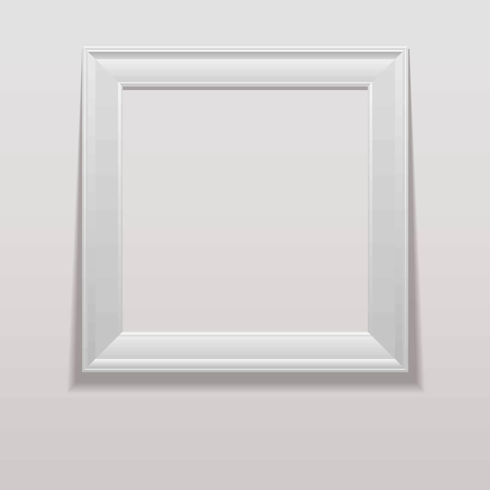 White frame. Vector. eps10