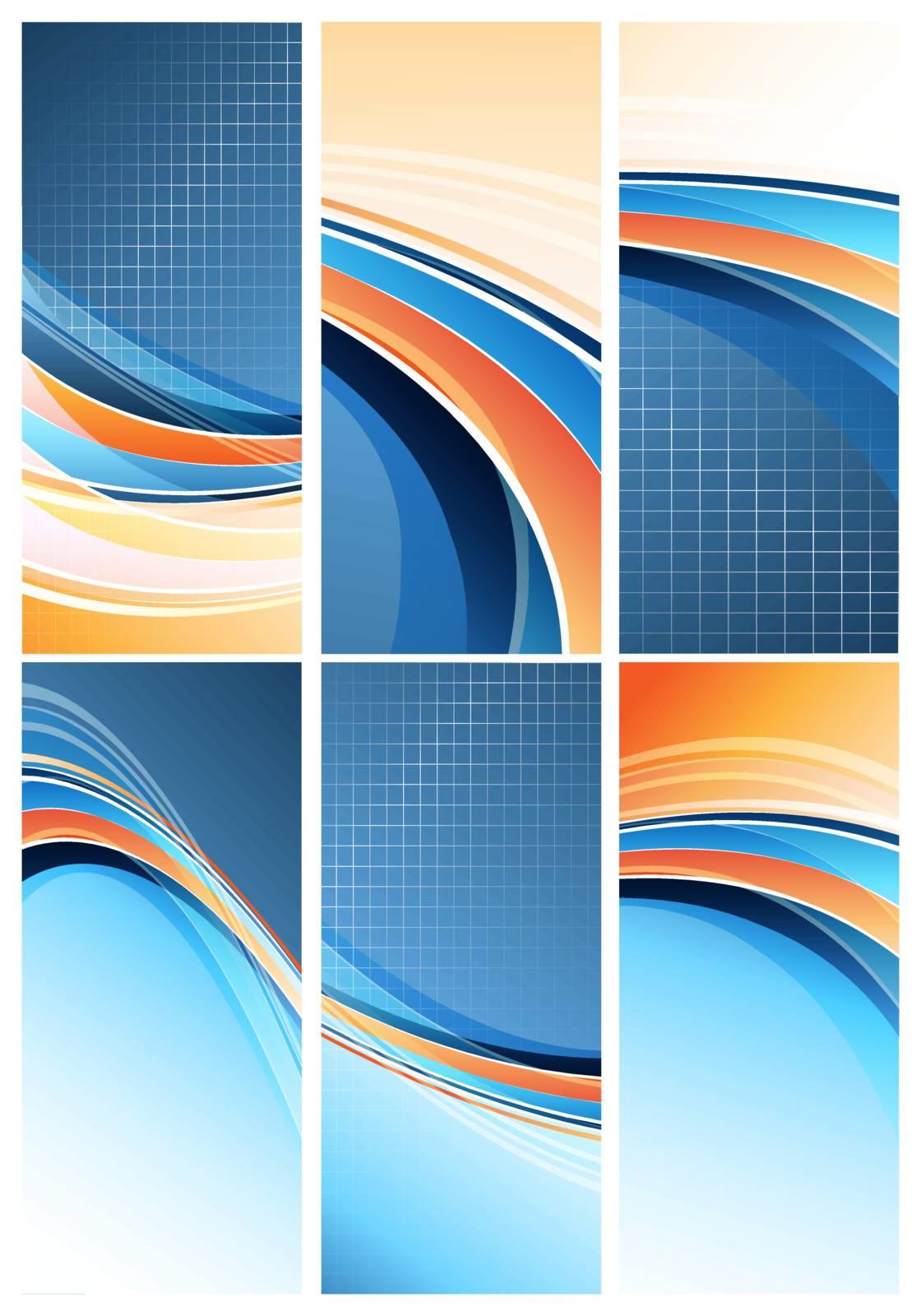 Set of bright modern vertical designs. Eps10