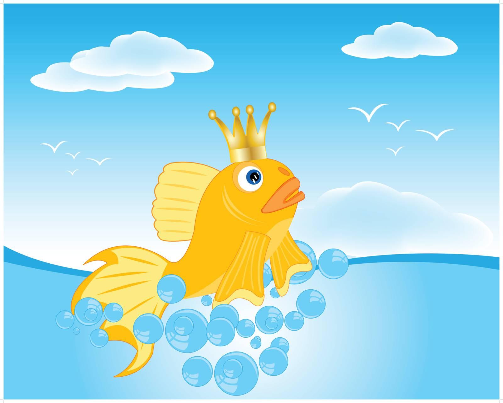 Goldfish seaborne by cobol1964