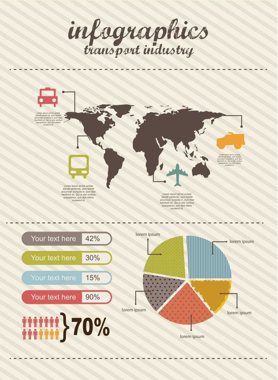 infographics of travel, vintage style. vector illustration