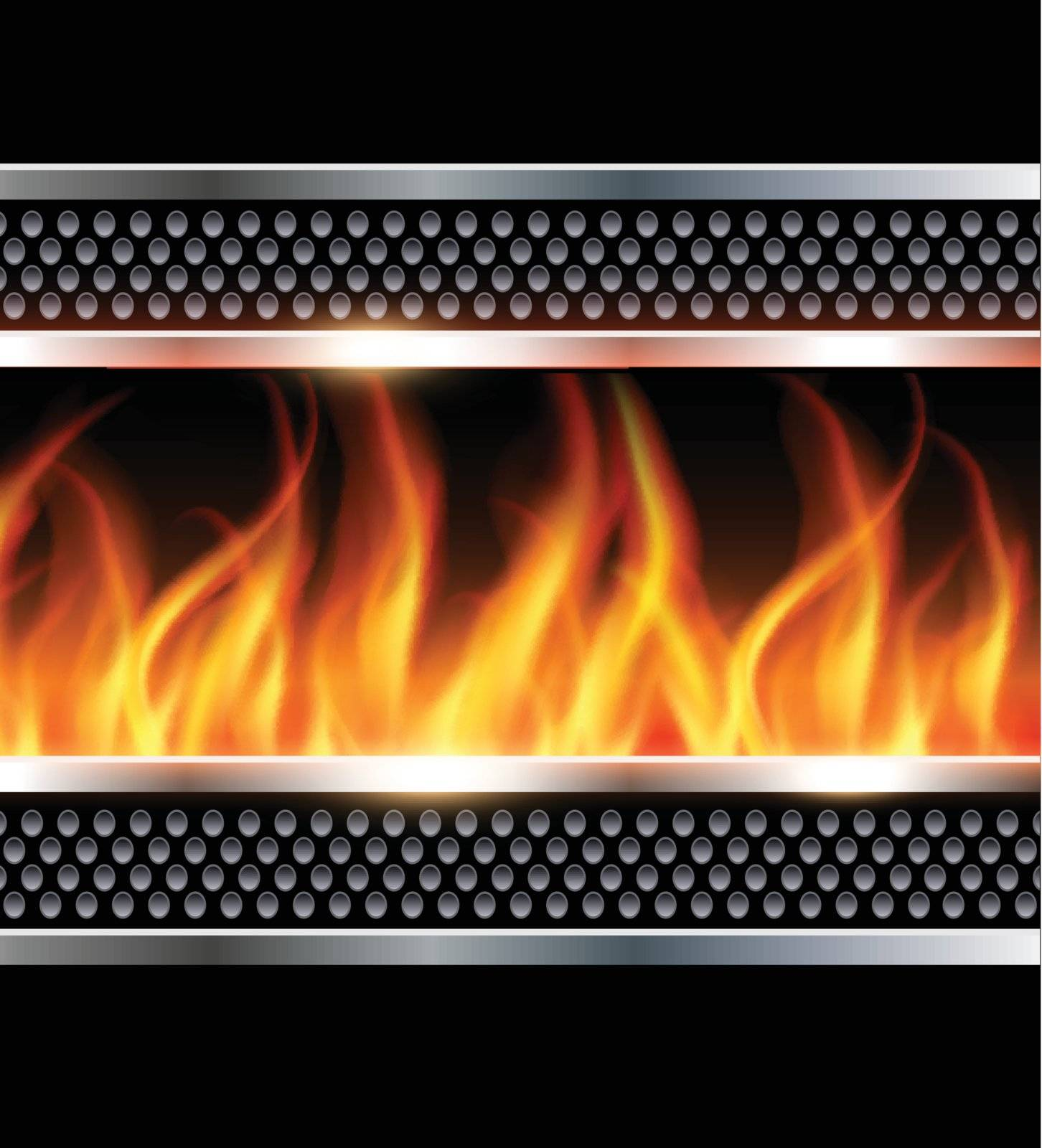 Abstract background with vector fire, firewall concept.