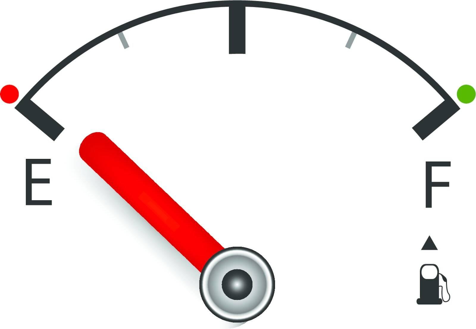 vector illustration of measuring petrol for you design