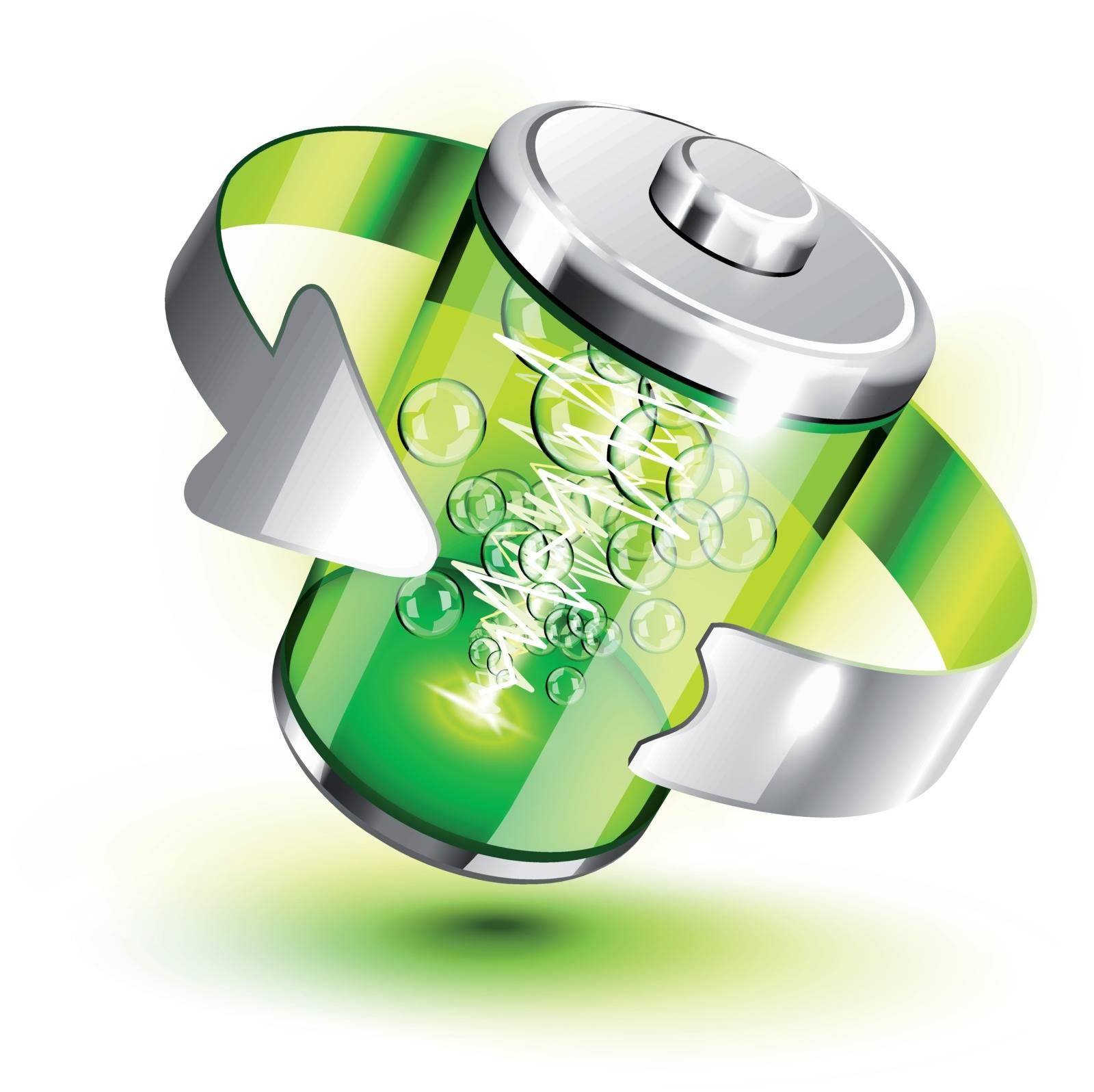 Green battery full level indicator icon