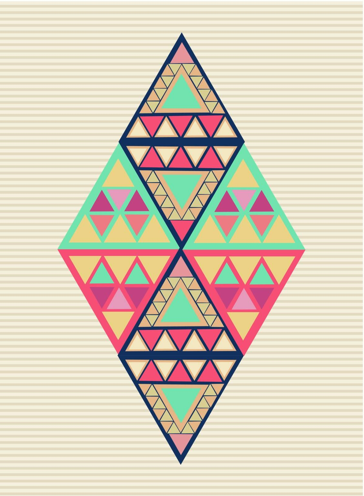 Trendy colorful abstract triangles illustration. Vector file layered for easy editing.