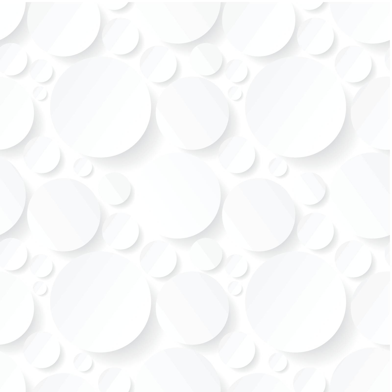 seamless background with white circles