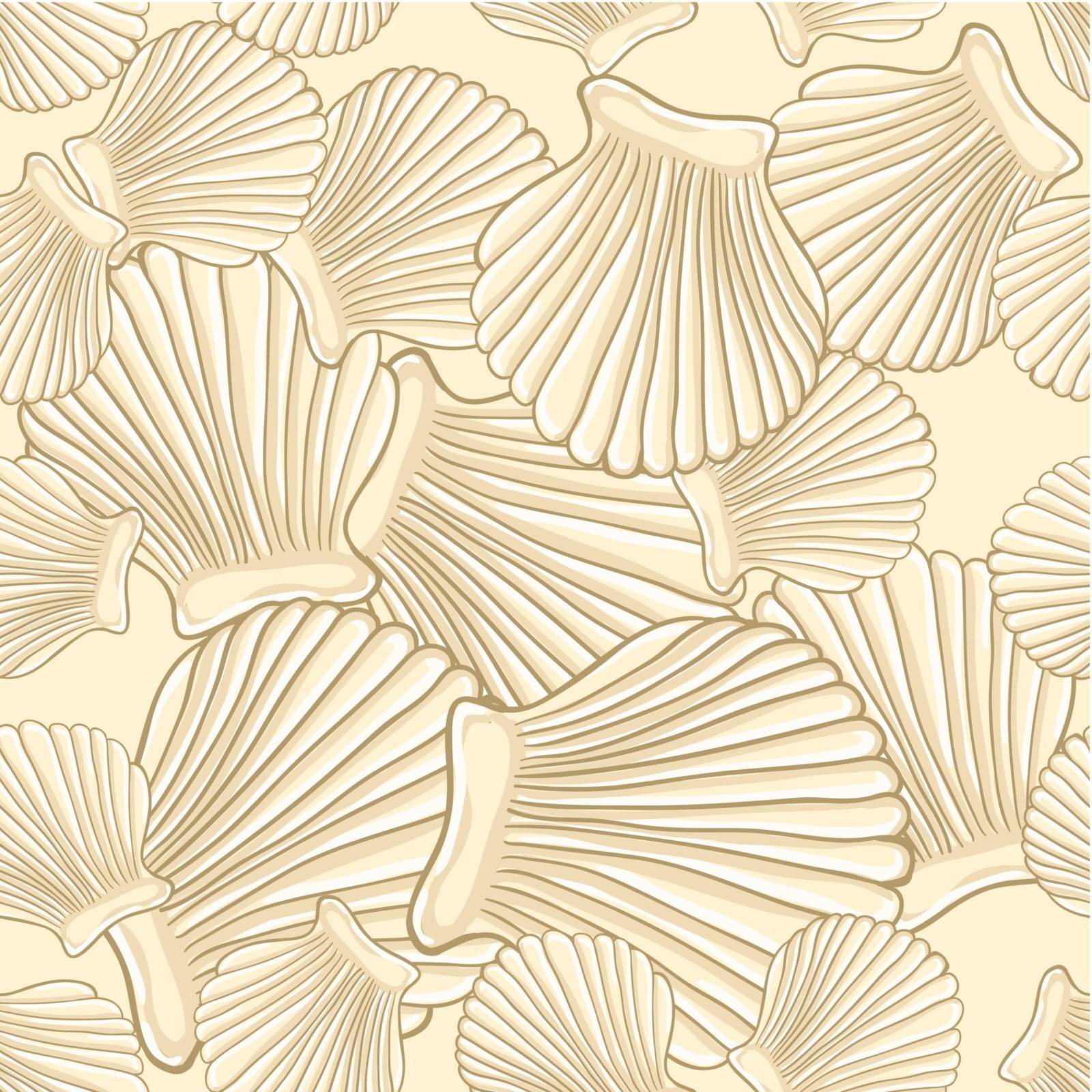 seamless pattern with shells, vector illustration EPS 10