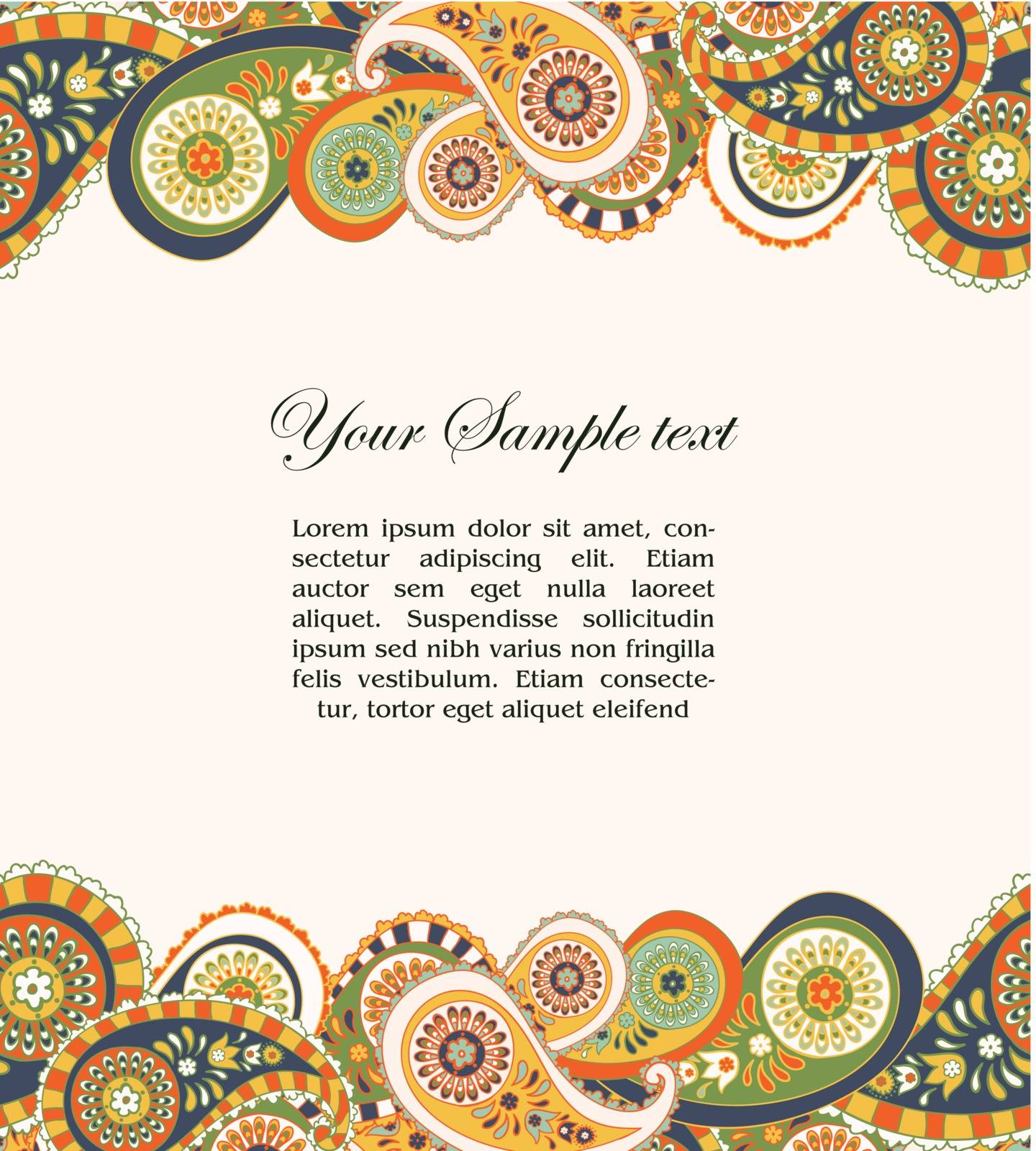 abstract background with paisley and place for your text