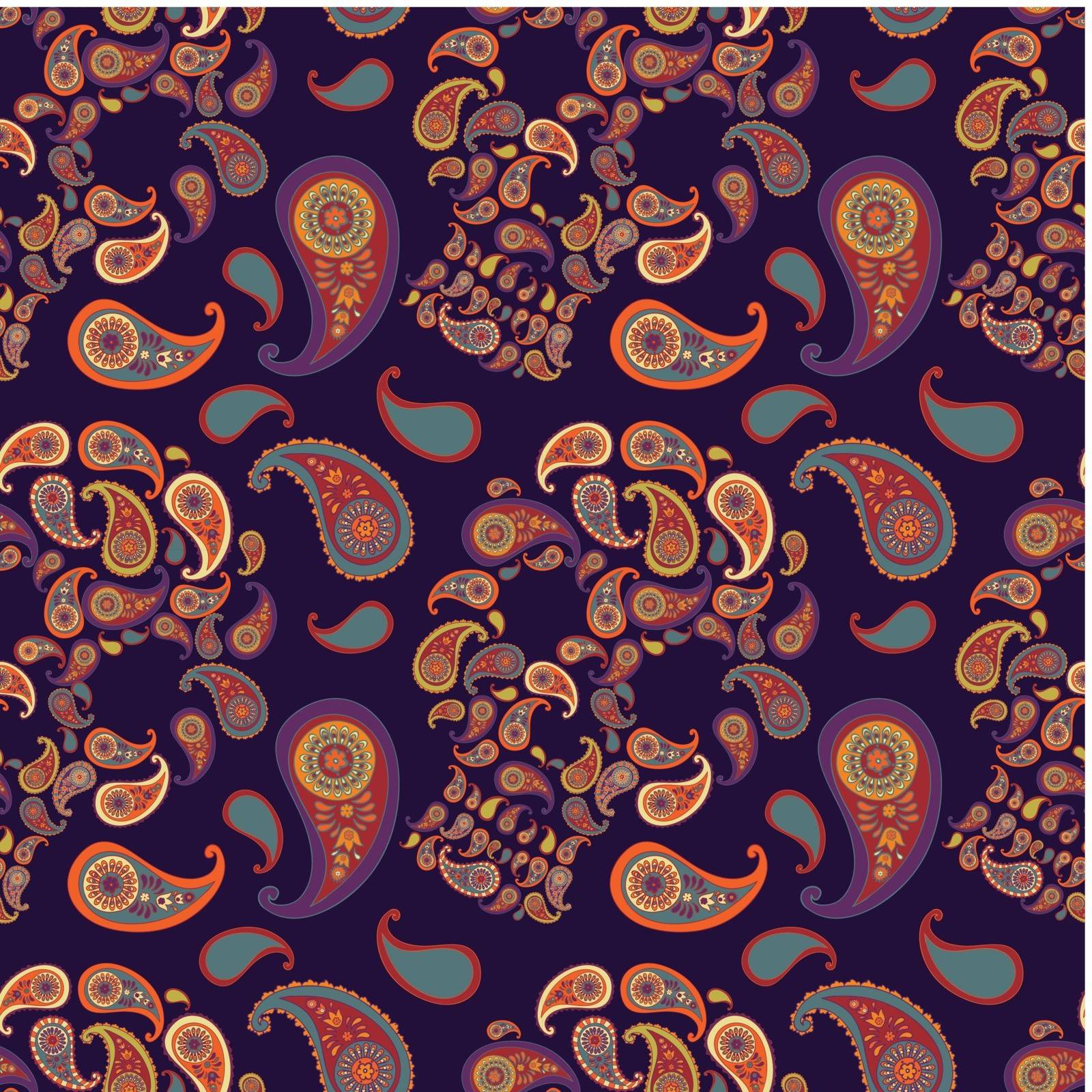 pattern with skulls and paisley