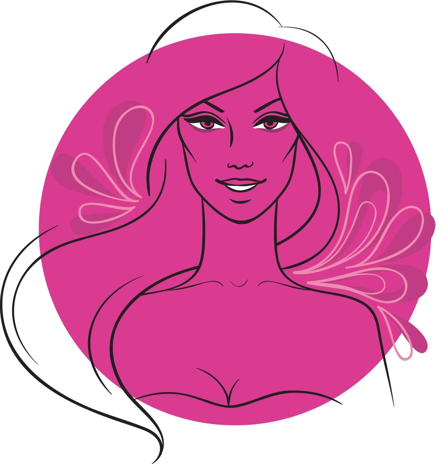 Vector illustration of Beautiful woman