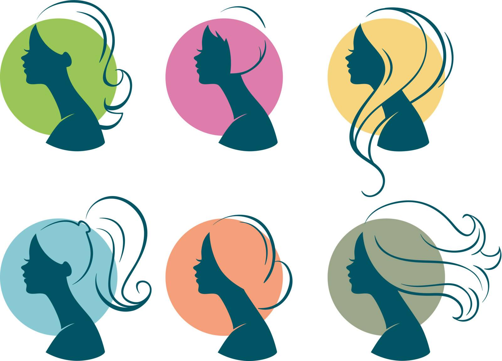 Vector illustration of Beautiful womans
