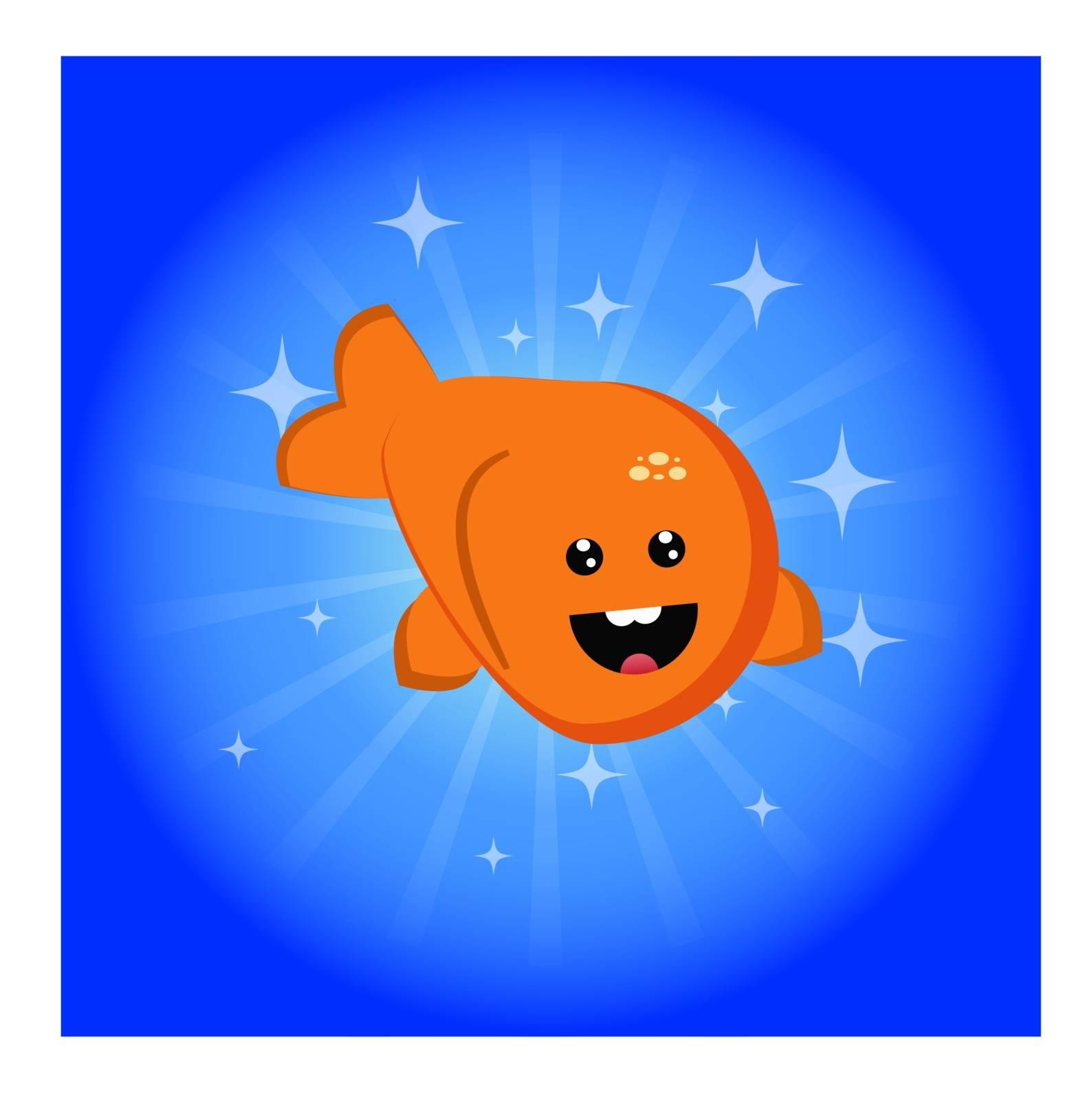 Happy fish. Vector illustration