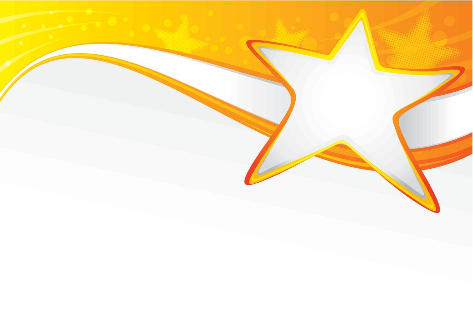 Background with star in vibrant colors