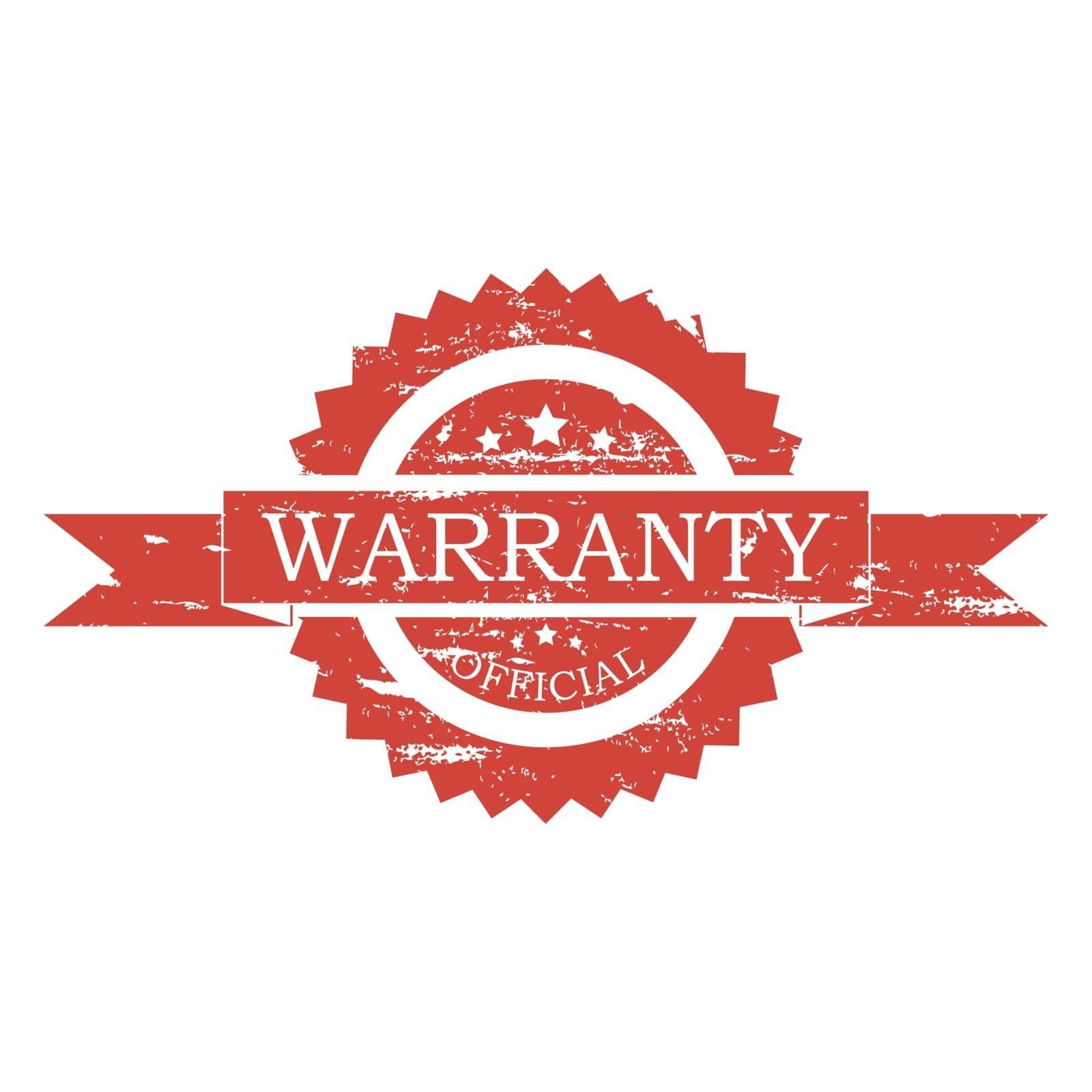 Warranty  rubber stamp on white background. Vector illustration