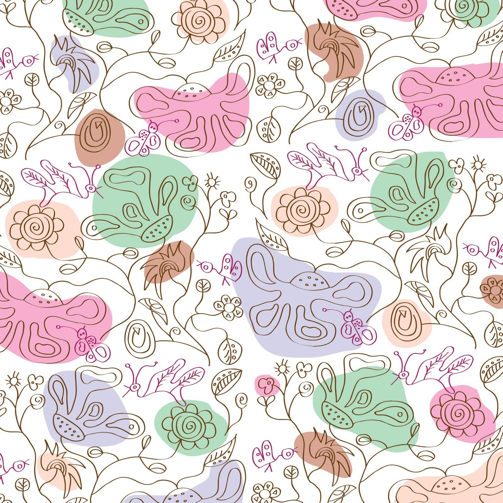 seamless floral background, illustration in vector format