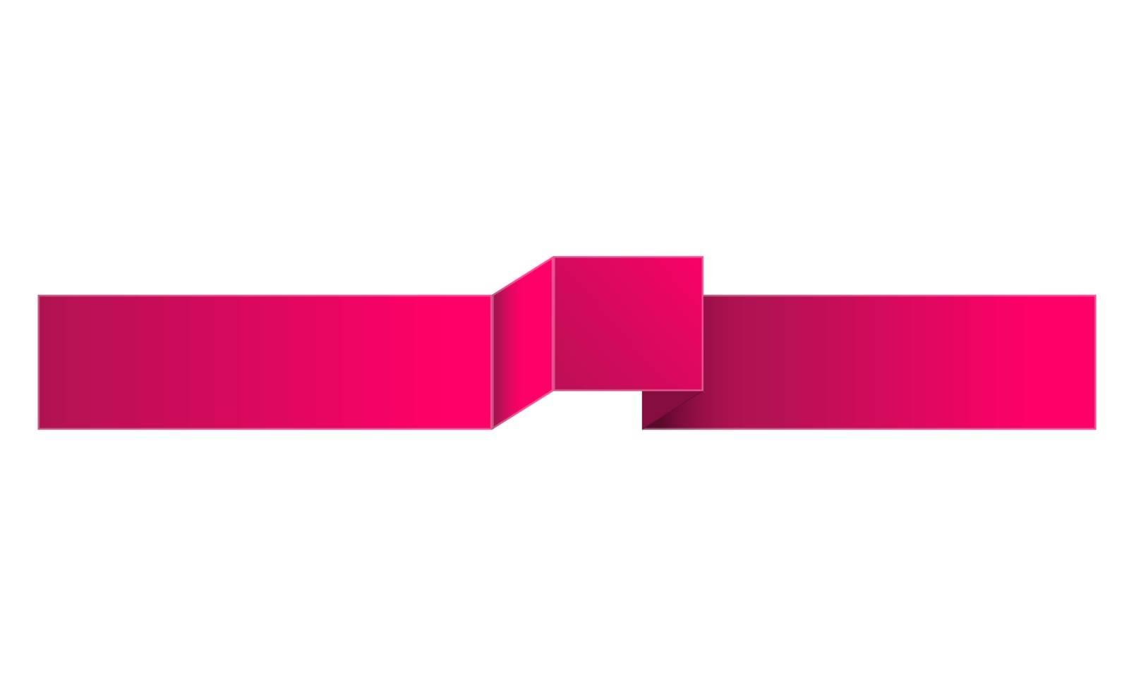 The blank modern style violet ribbon