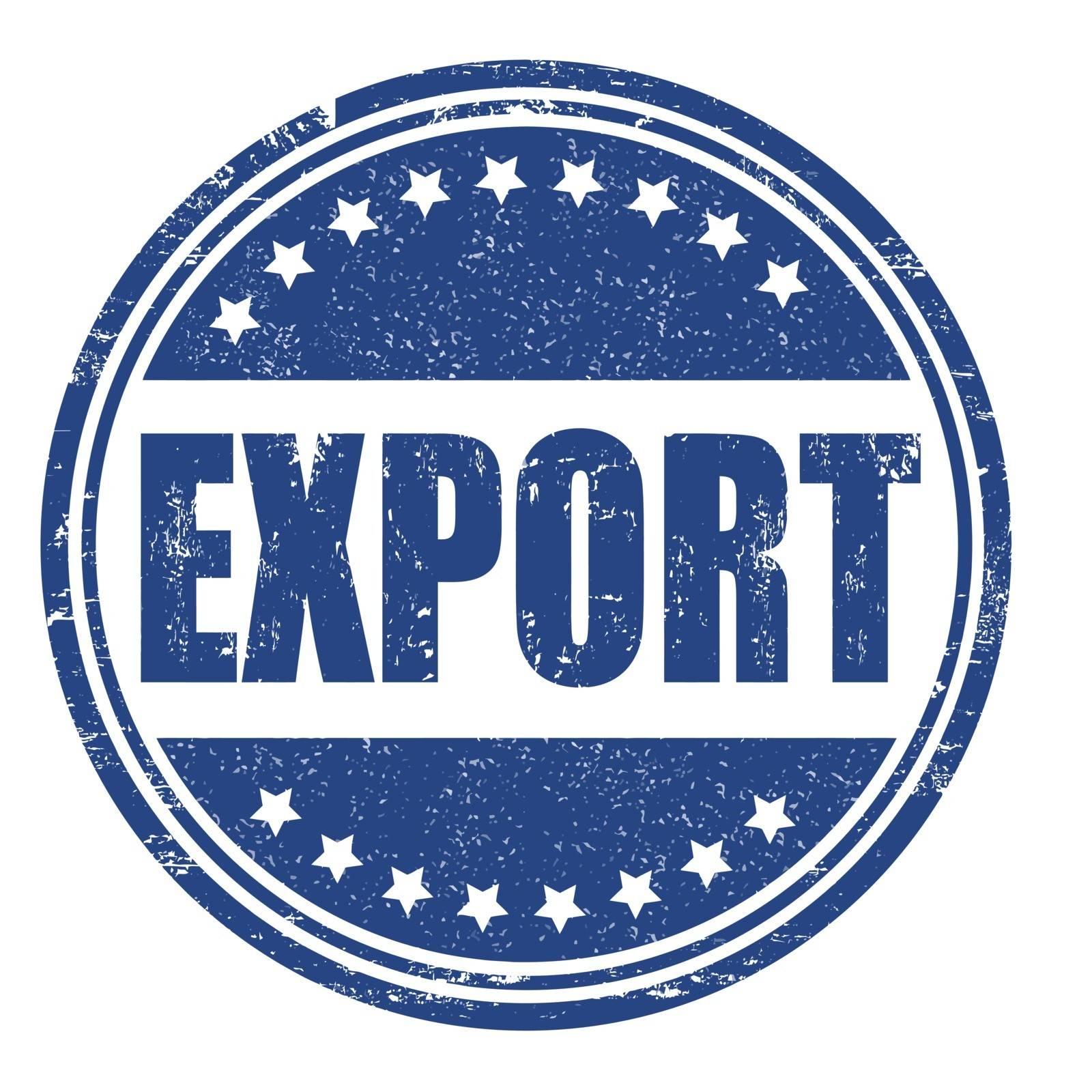 Export grunge rubber stamp on white, vector illustration