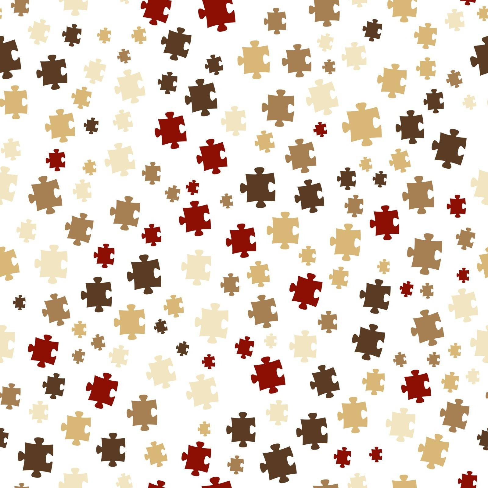 The puzzle background made out of brown puzzle pieces