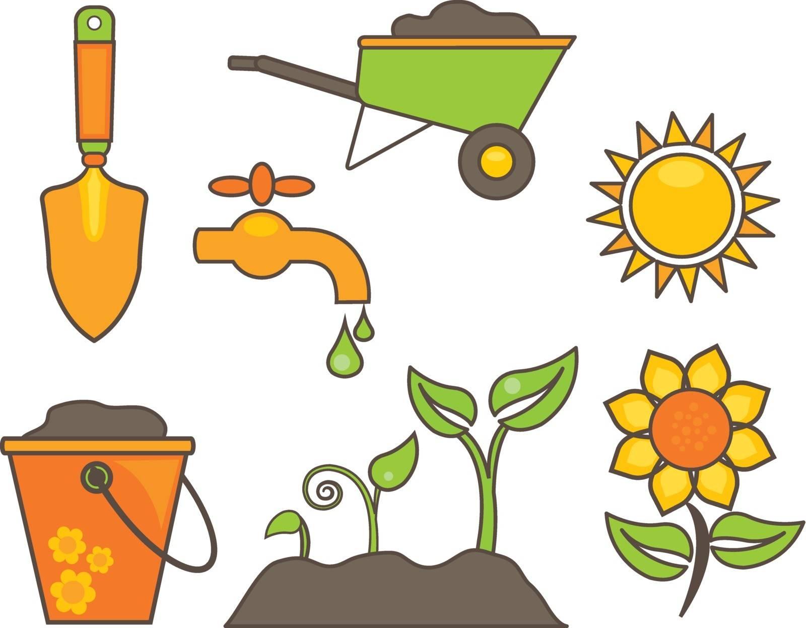 gardening equipment illustration vector eps.10