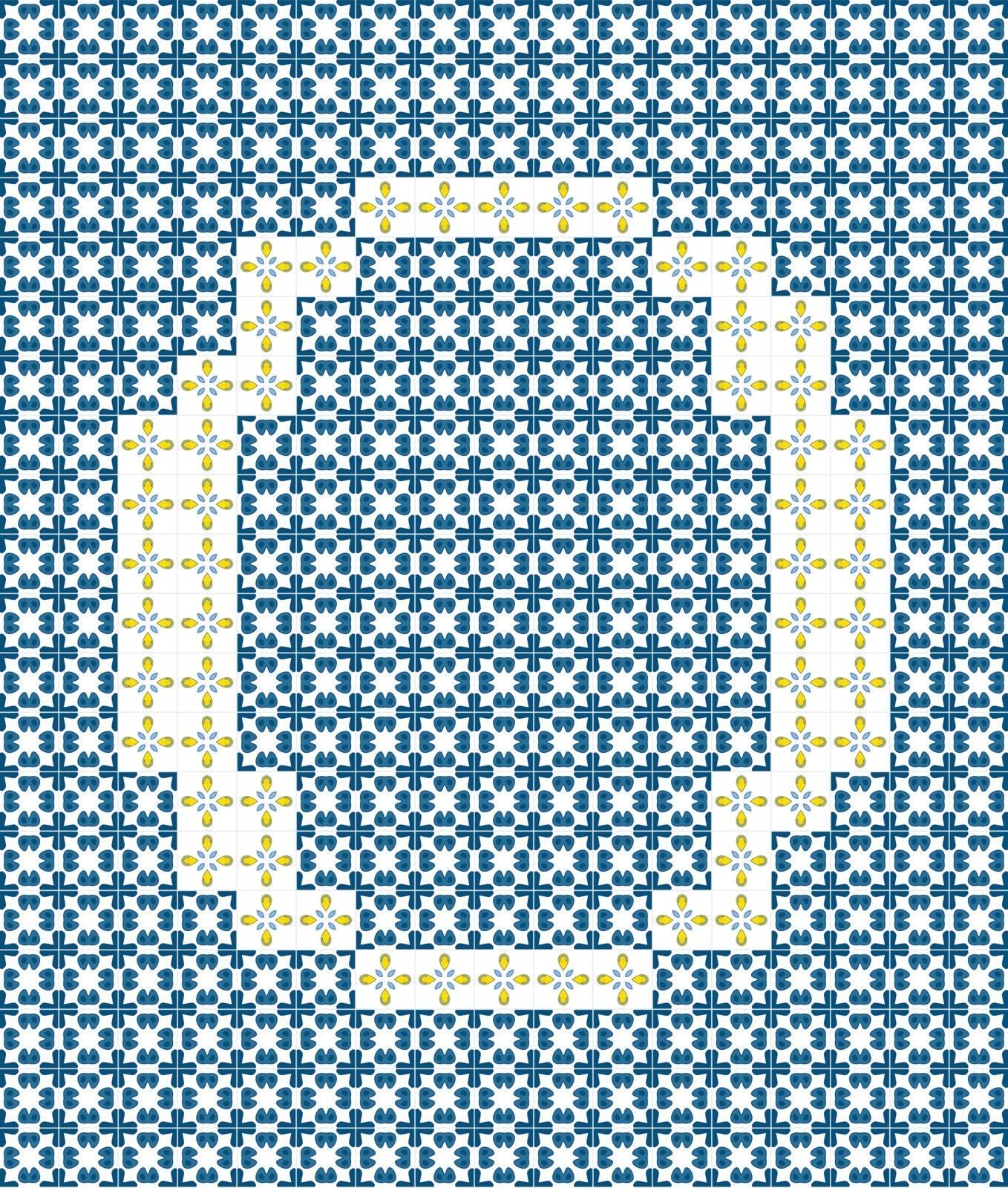 Capital letter O made of Portuguese tiles