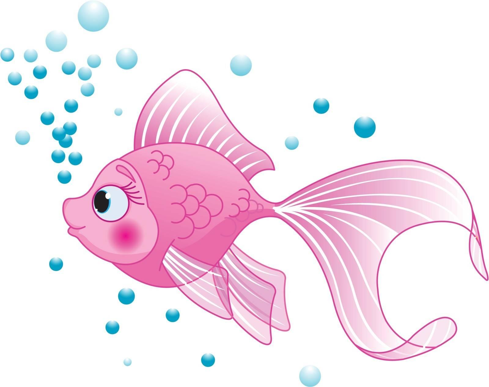 Illustration of cute pink fish