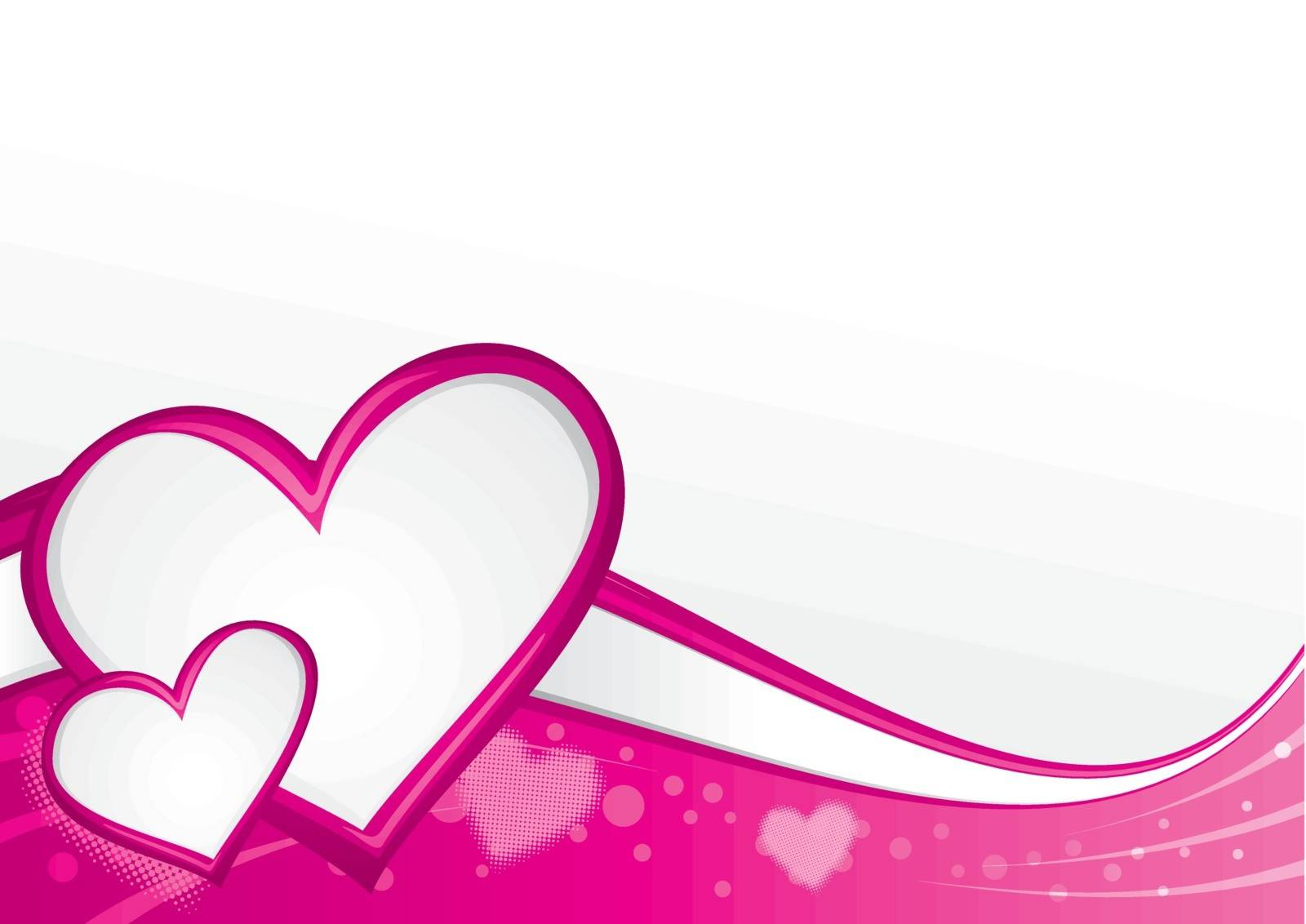 Background with hearts in vibrant colors
