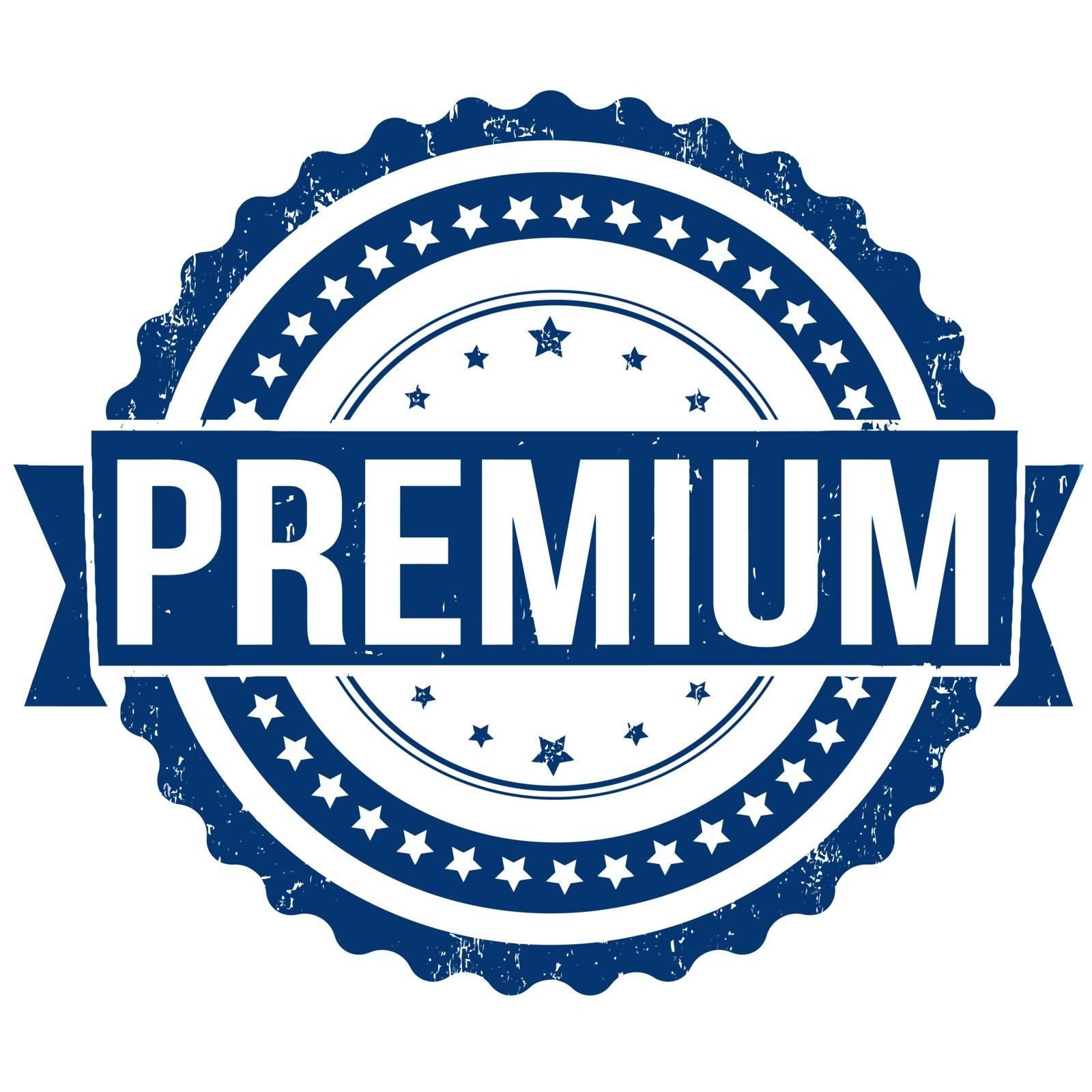 Premium grunge rubber stamp on white, vector illustration