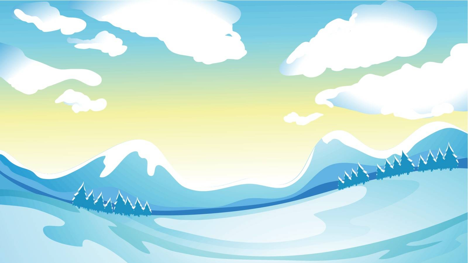Illustration of a freezy surrounding