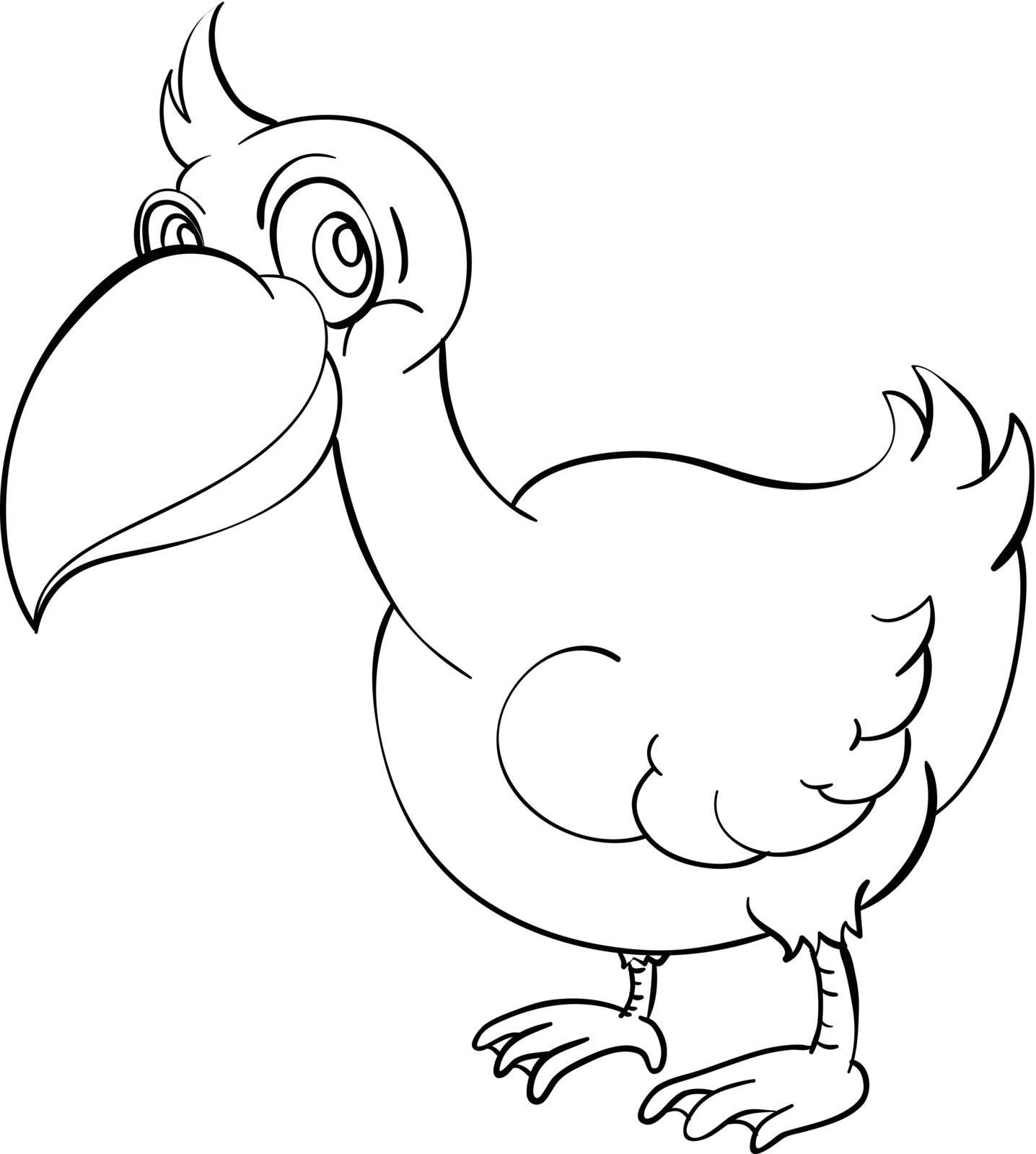 illustration of a bird outline