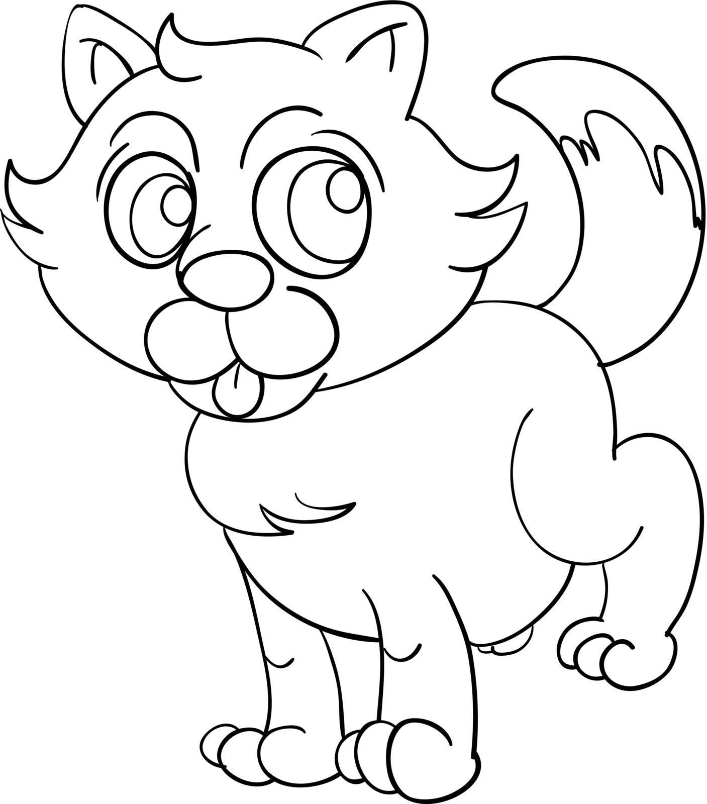Illustration of a cat outline
