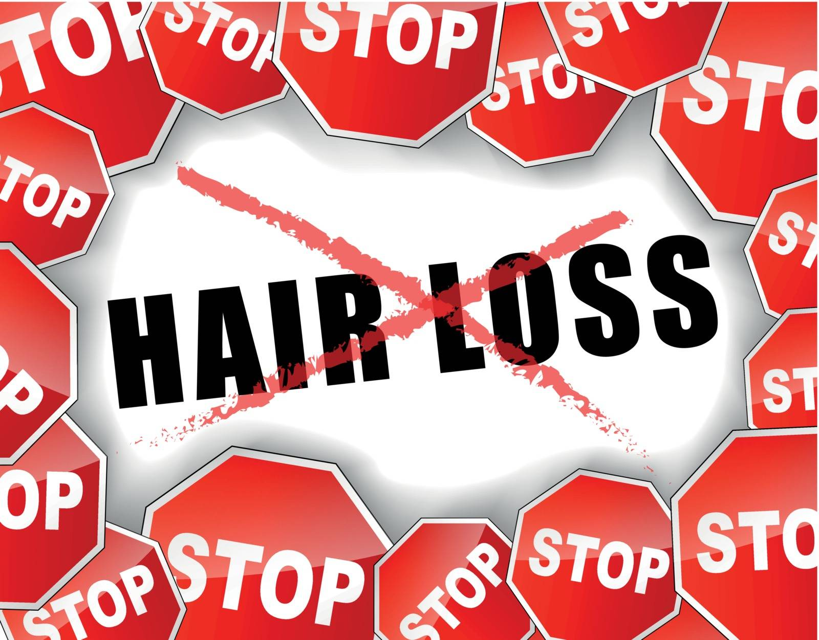 Vector illustration background for stop hair loss concept