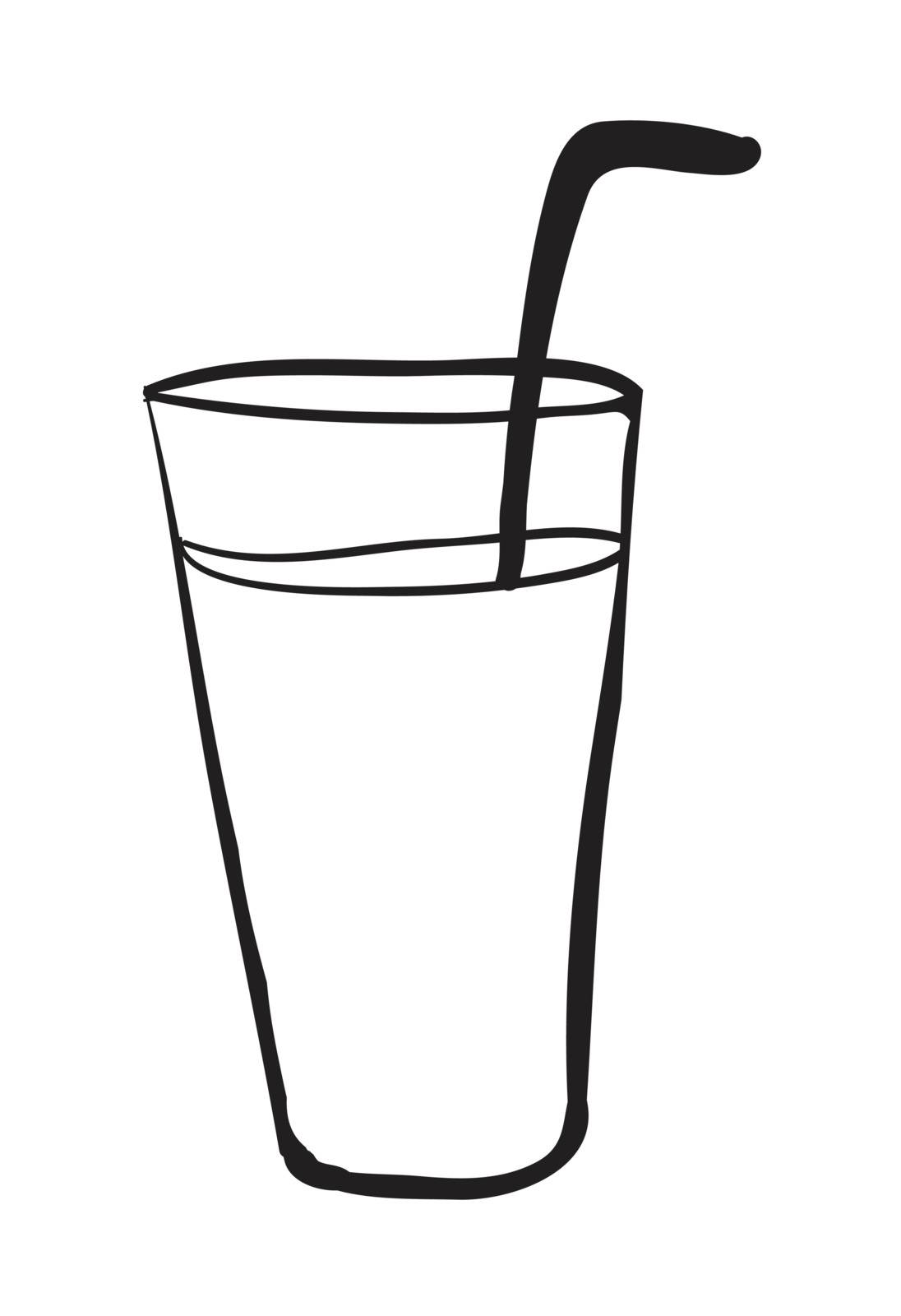 illustration of a glass on a white background
