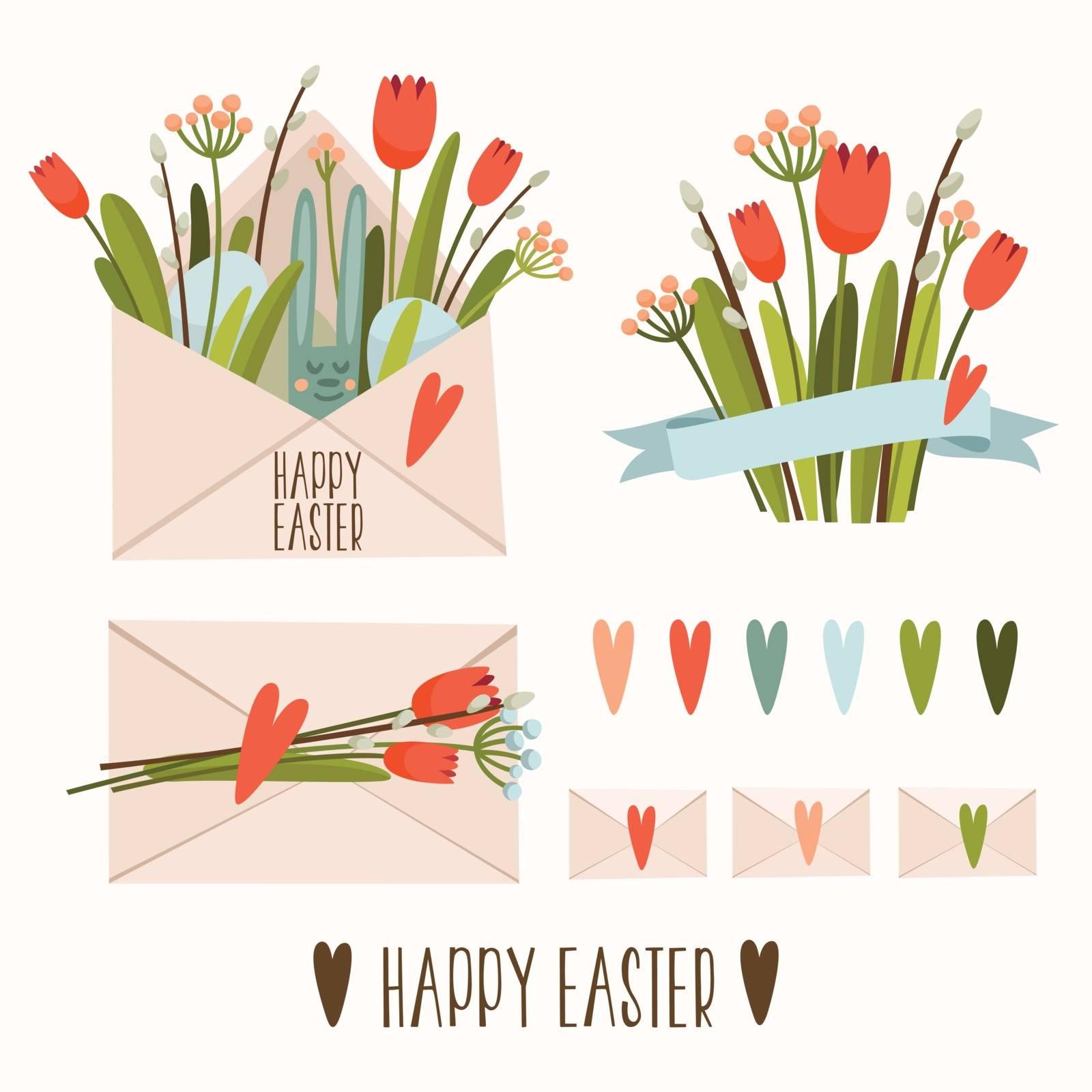 Set of Easter decor