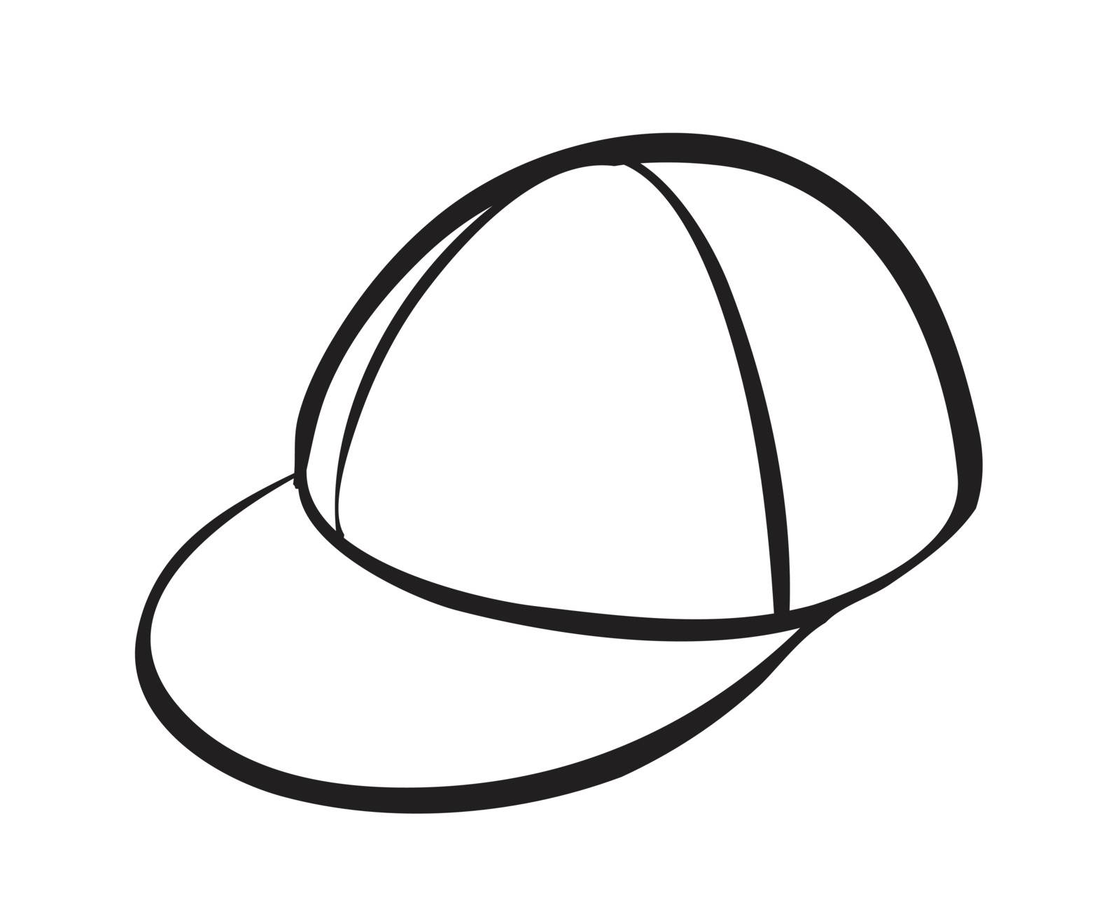 illustration of a cap on a white background