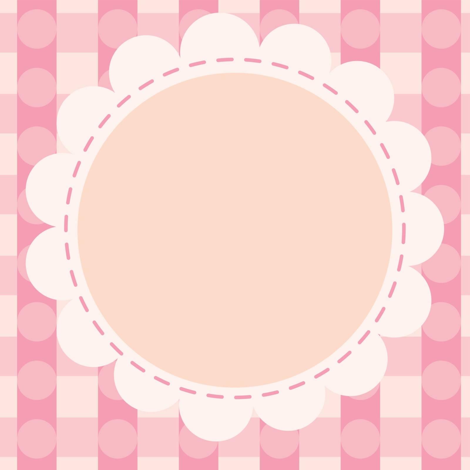 illustration of a pink wallpaper