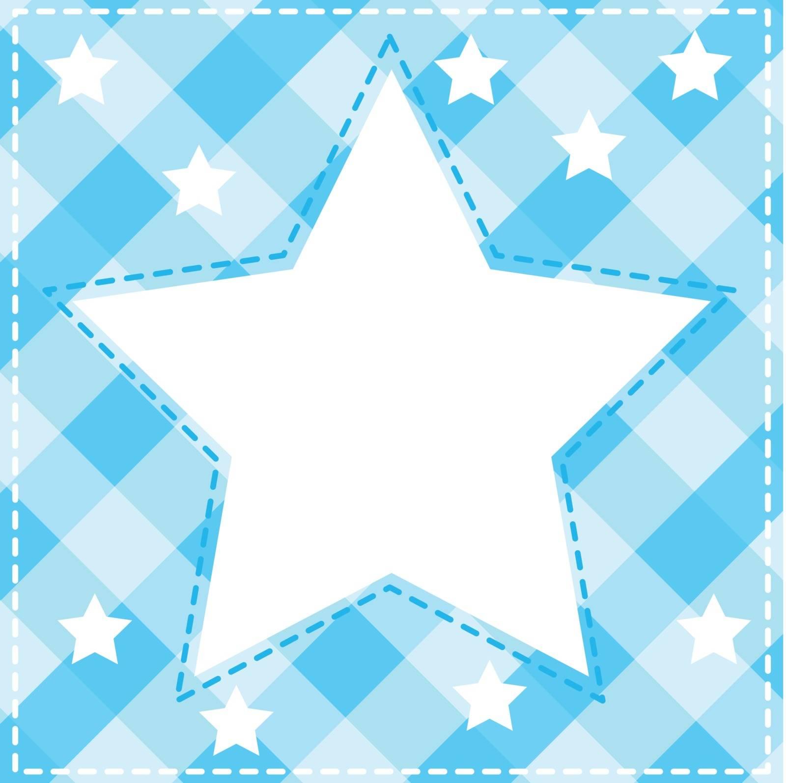 illustration of a blue wallpaper