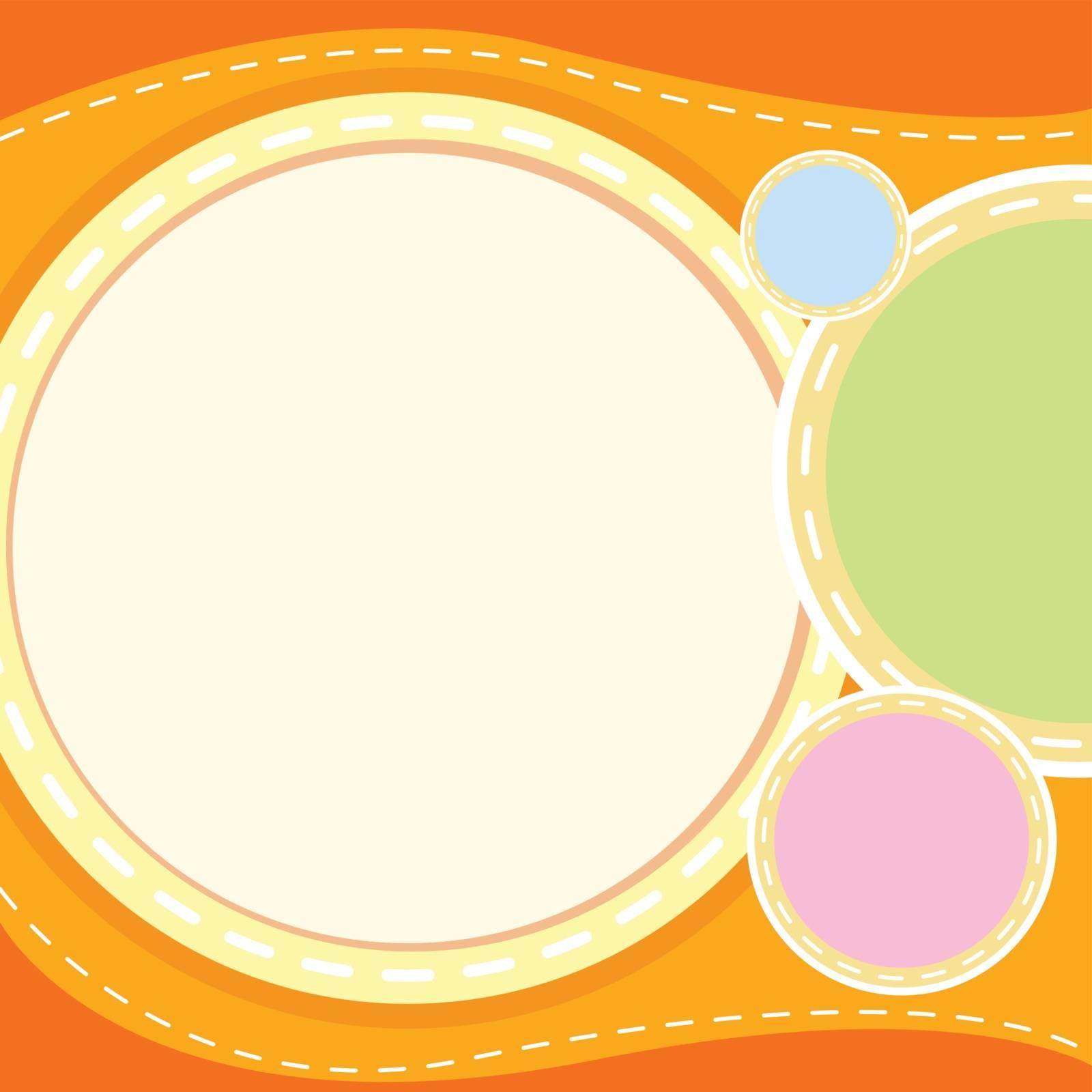illustration of an orange wallpaper