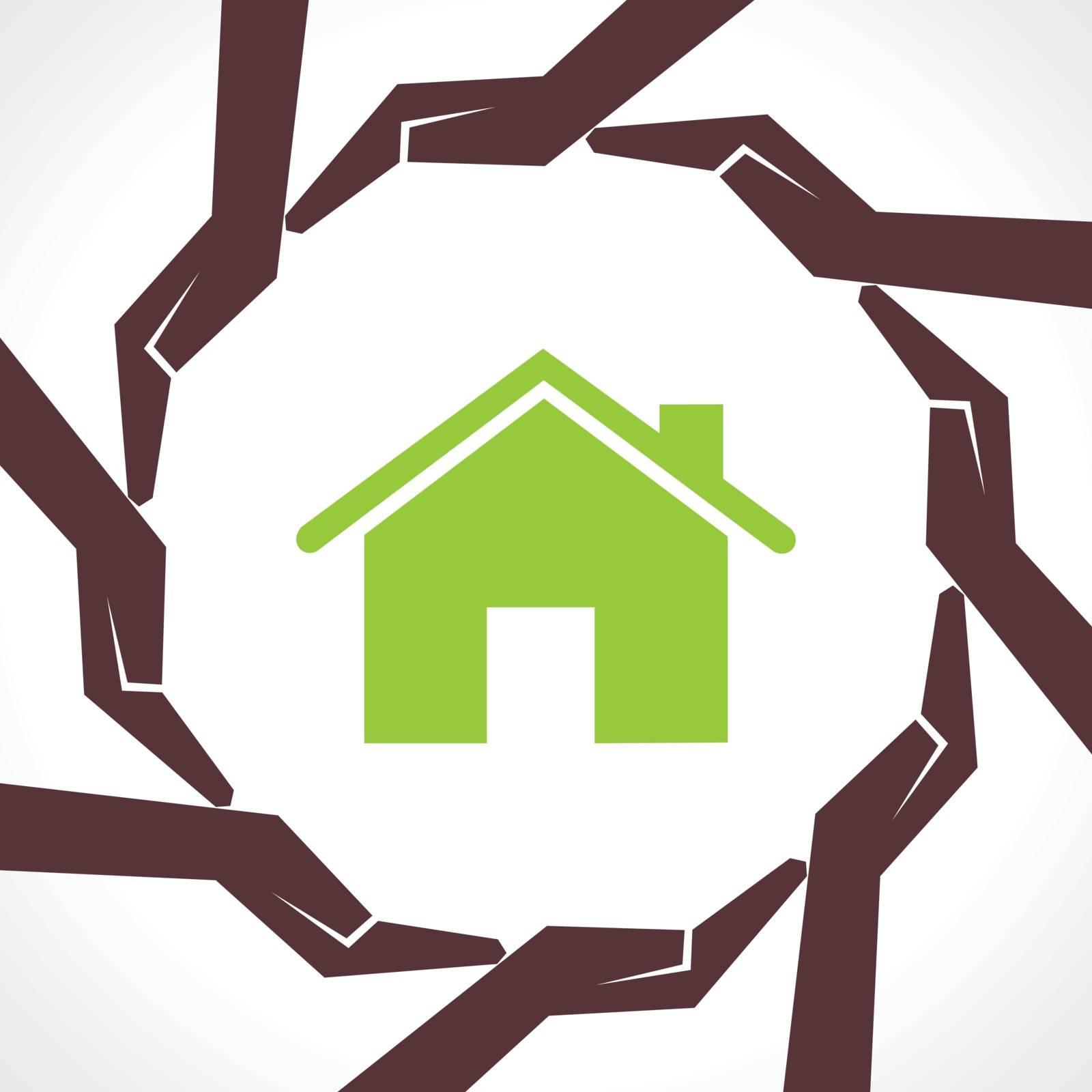 Protect home concept-vector illustration