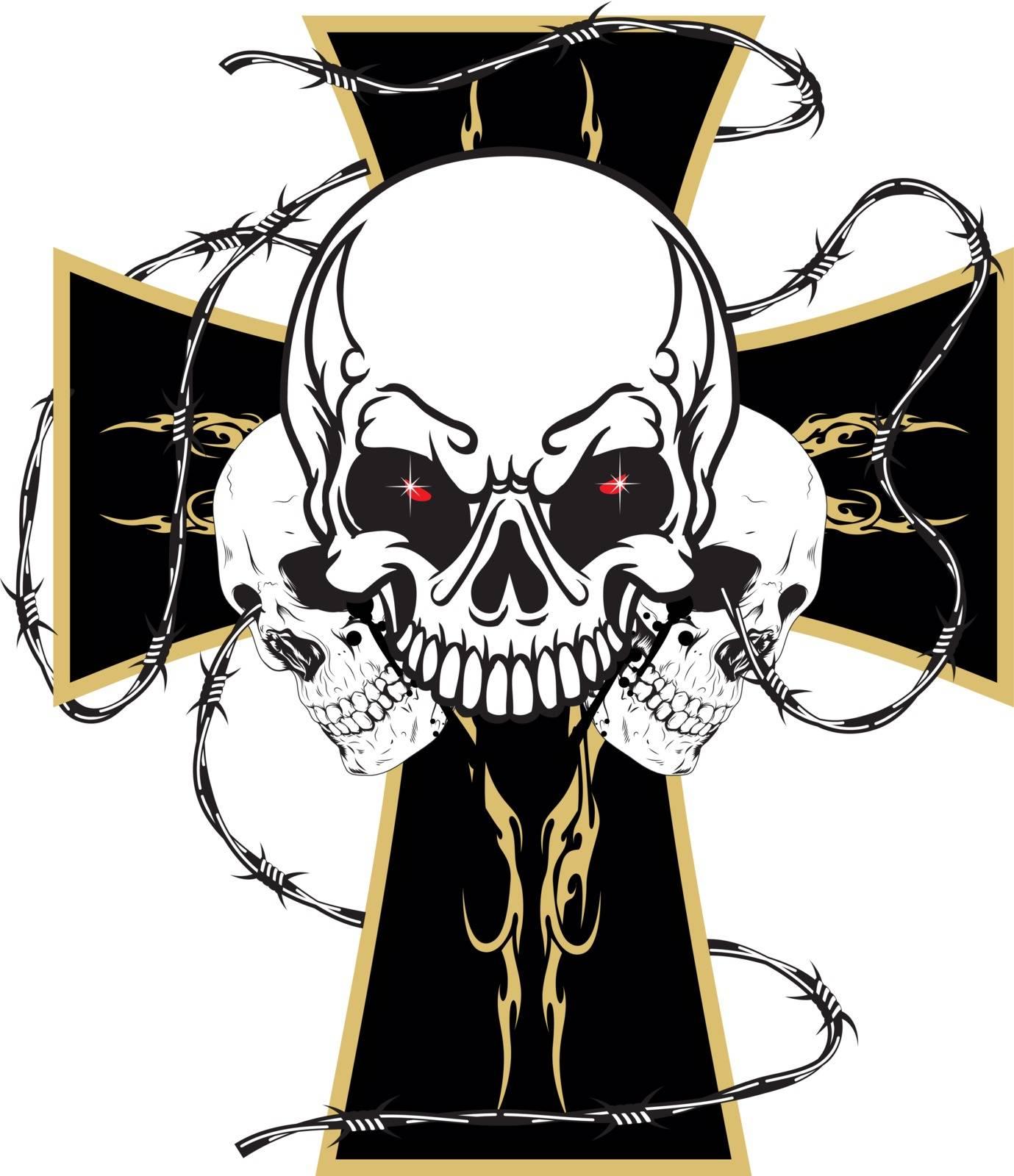 cross skulls by samandale